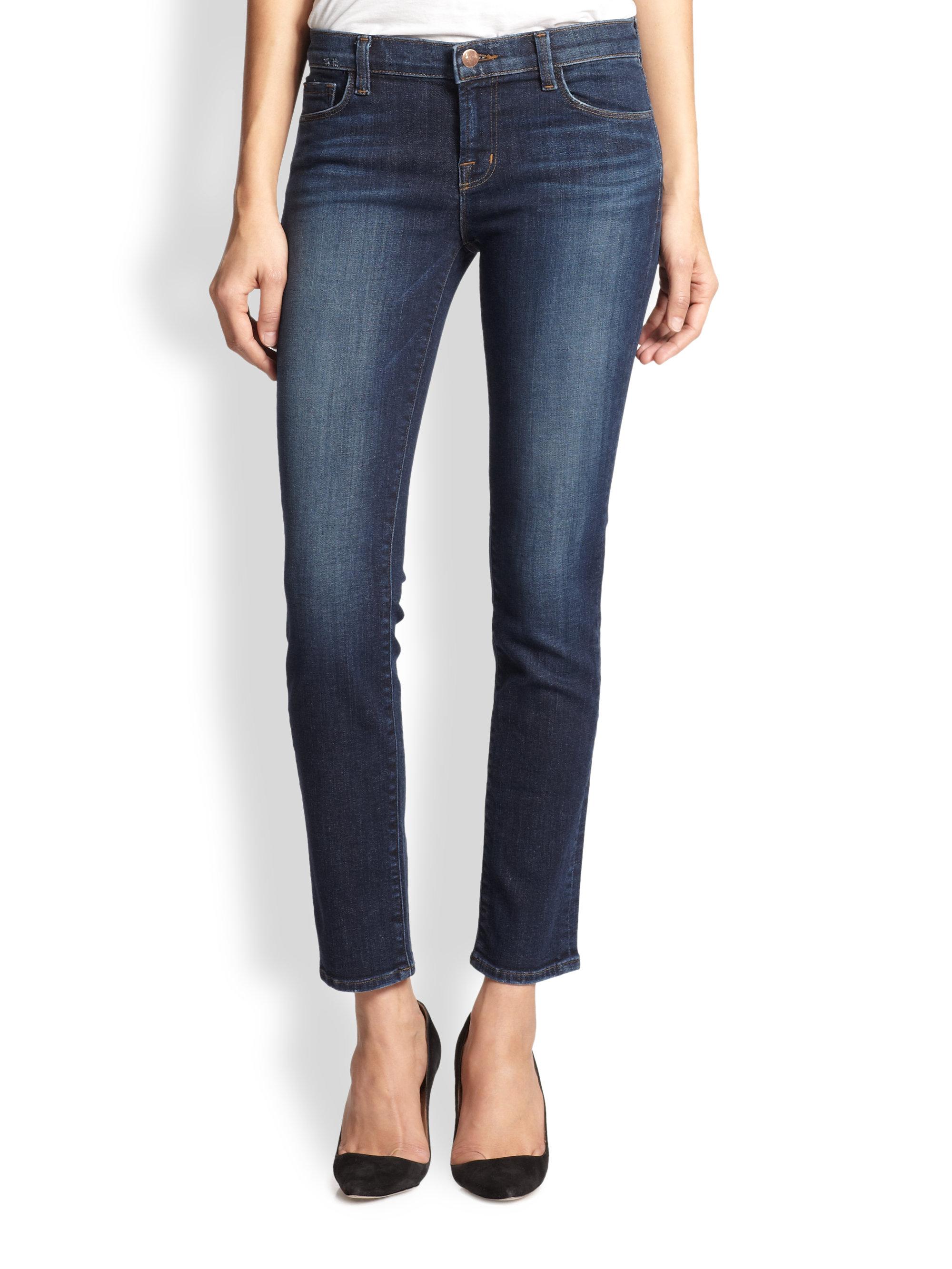 lyst j brand siren skinny jeans in blue. Black Bedroom Furniture Sets. Home Design Ideas