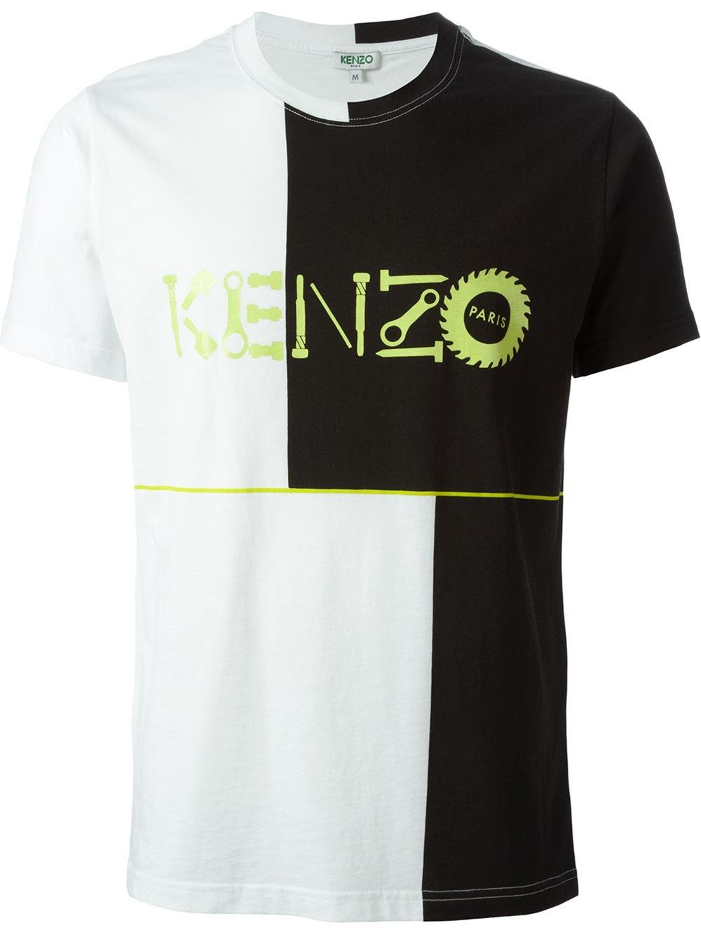 Kenzo Logo Print T Shirt In White For Men Lyst