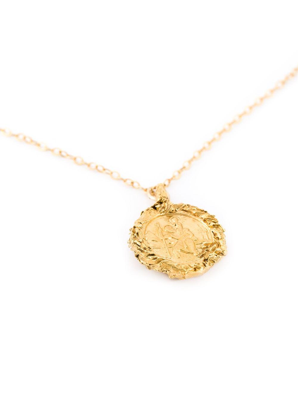 Lyst alighieri st christopher pendant necklace in metallic gallery aloadofball Gallery