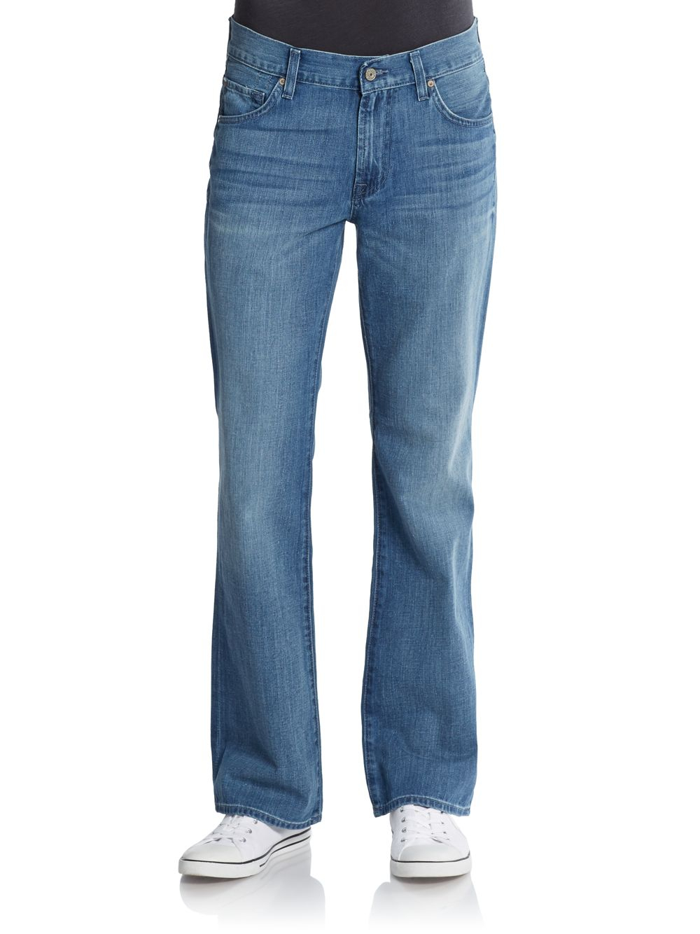 7 for all mankind apocket bootcut jeans in blue for men light blue lyst. Black Bedroom Furniture Sets. Home Design Ideas