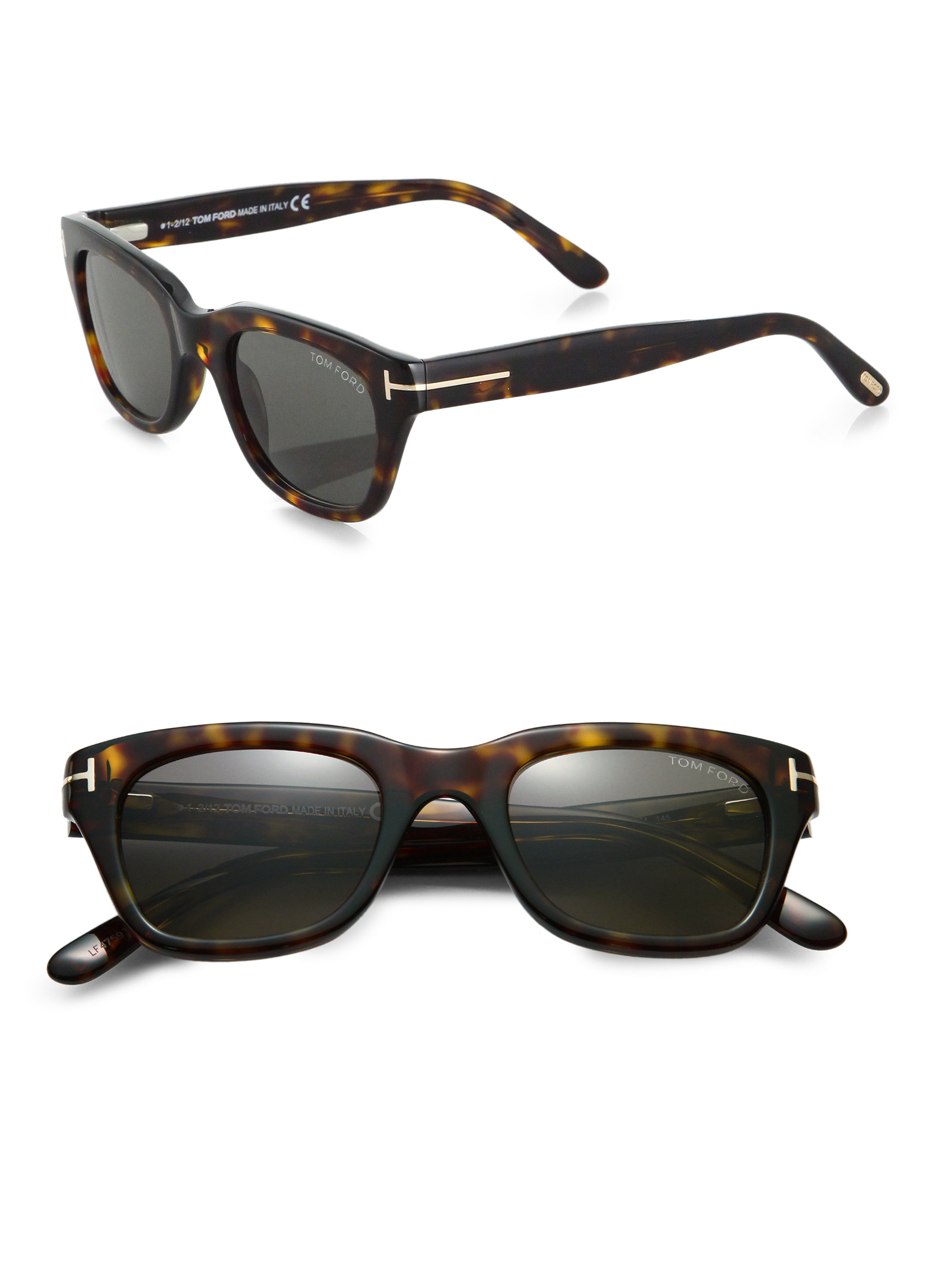 6f2ecb30d35 Lyst - Tom Ford Snowdon Acetate Sunglasses in Brown for Men