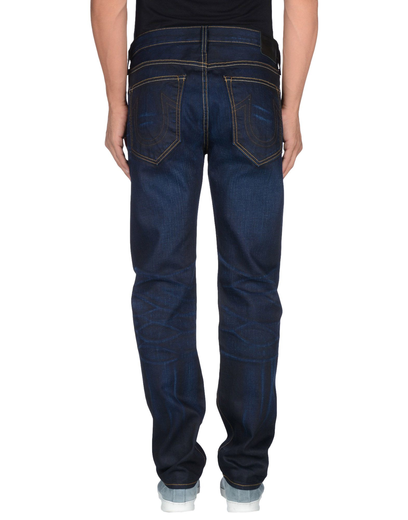 lyst true religion denim trousers in blue for men. Black Bedroom Furniture Sets. Home Design Ideas