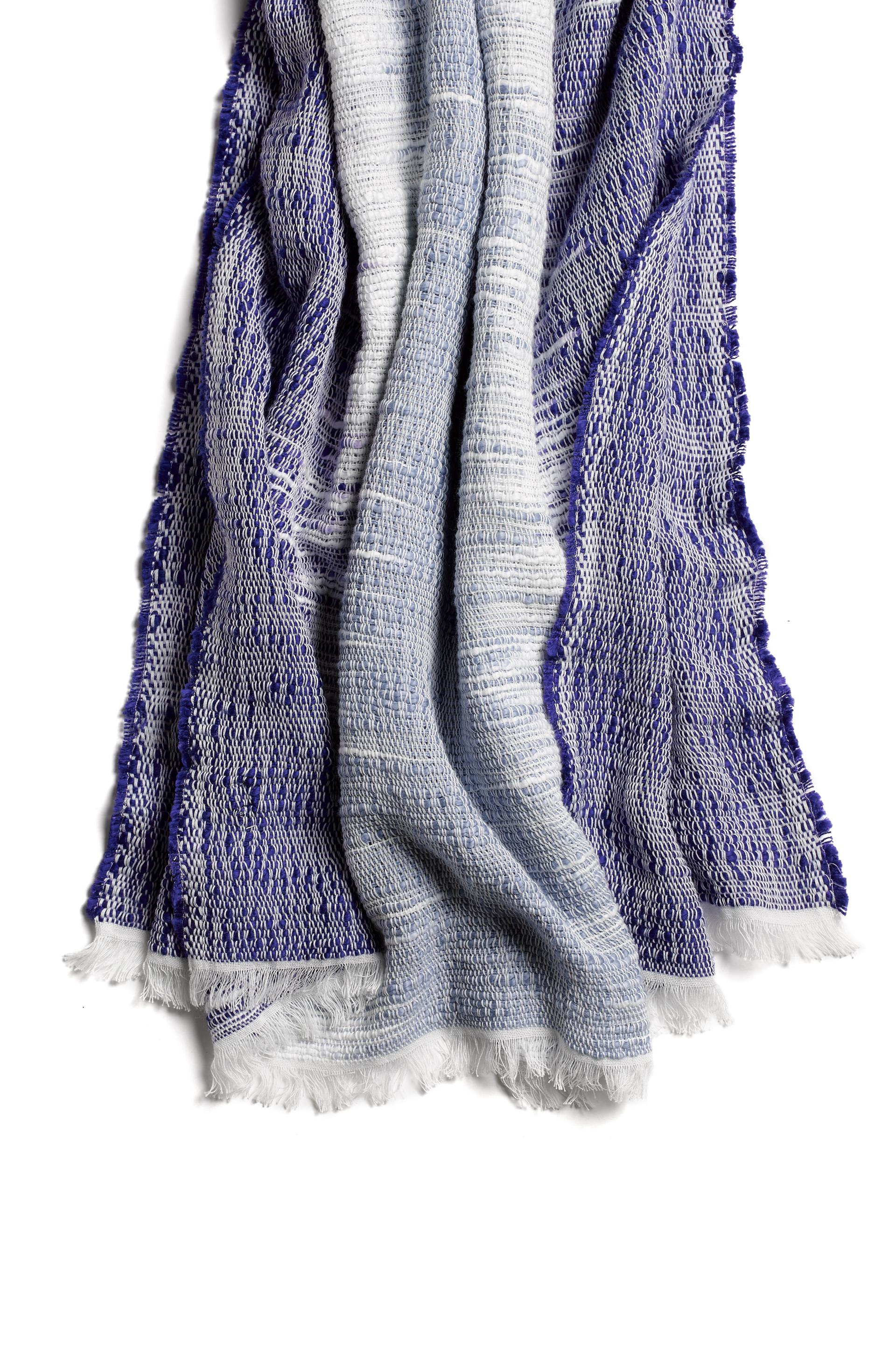 rag bone ombre scarf in blue royal blue lyst
