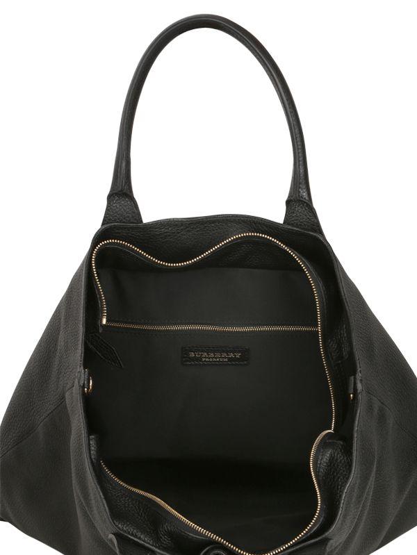 Burberry Prorsum Deerskin Tote Bag in Black