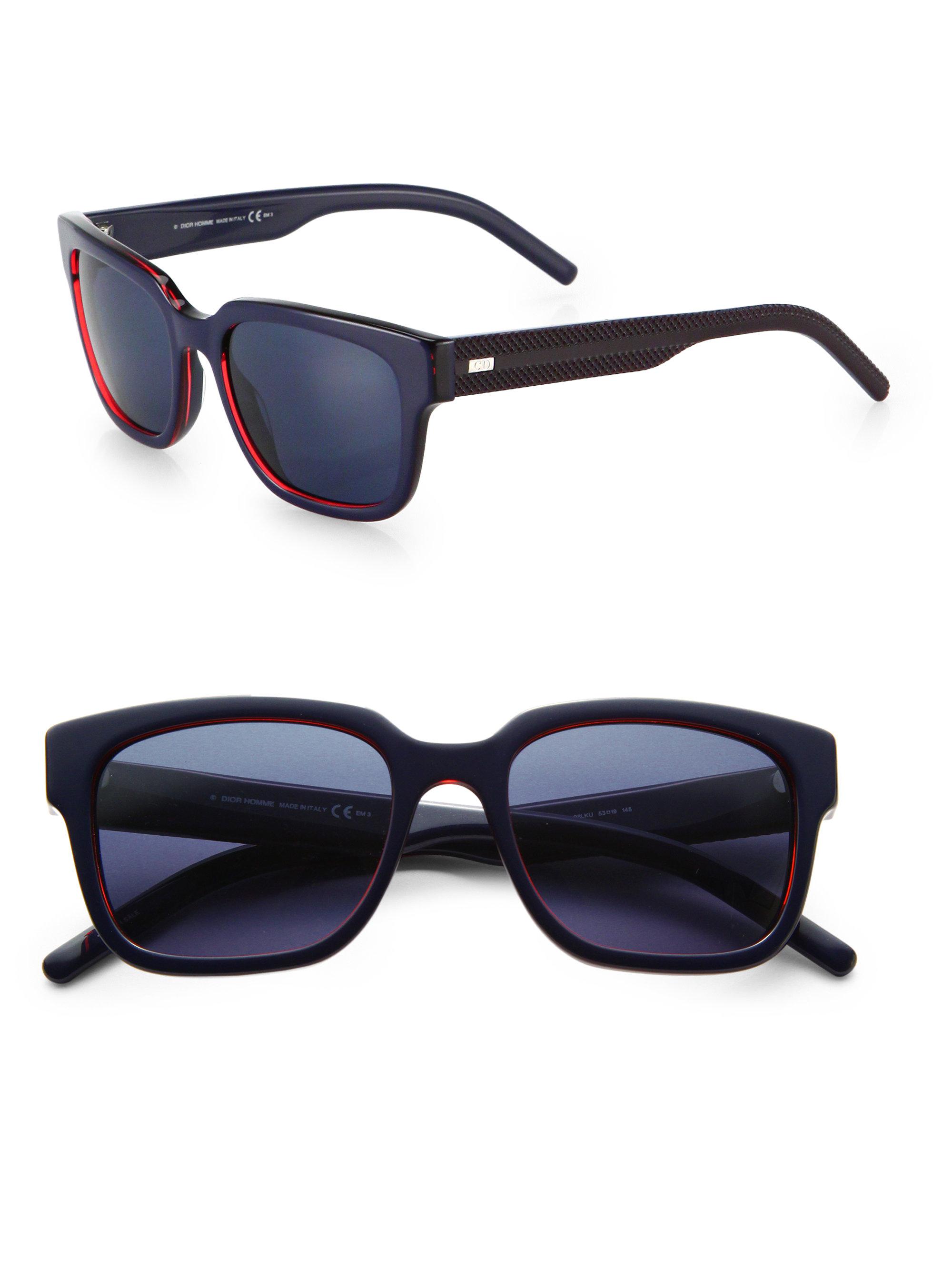0b4756b18da4b Dior homme Black Tie Acetate Sunglasses in Blue for Men