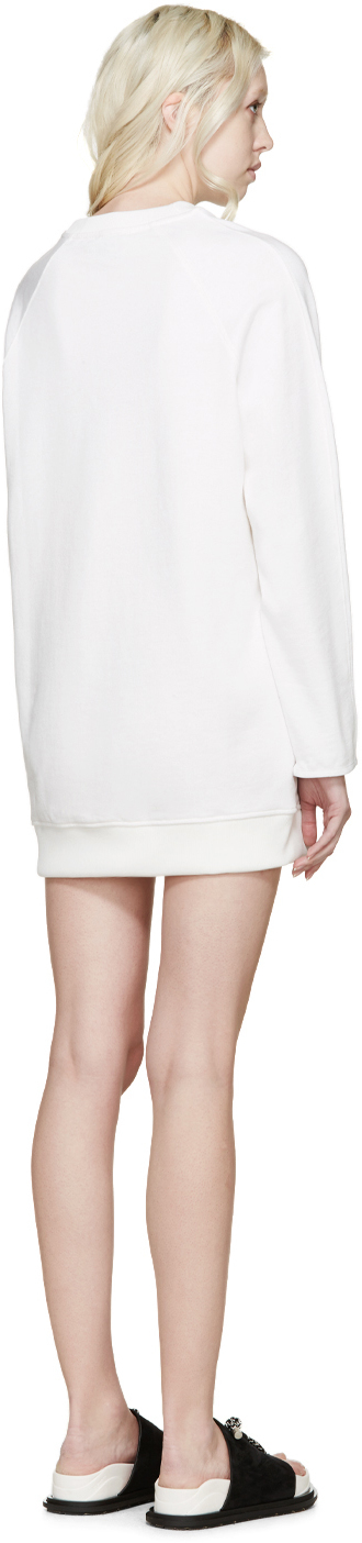 acne studios white fiera pullover dress in white lyst. Black Bedroom Furniture Sets. Home Design Ideas