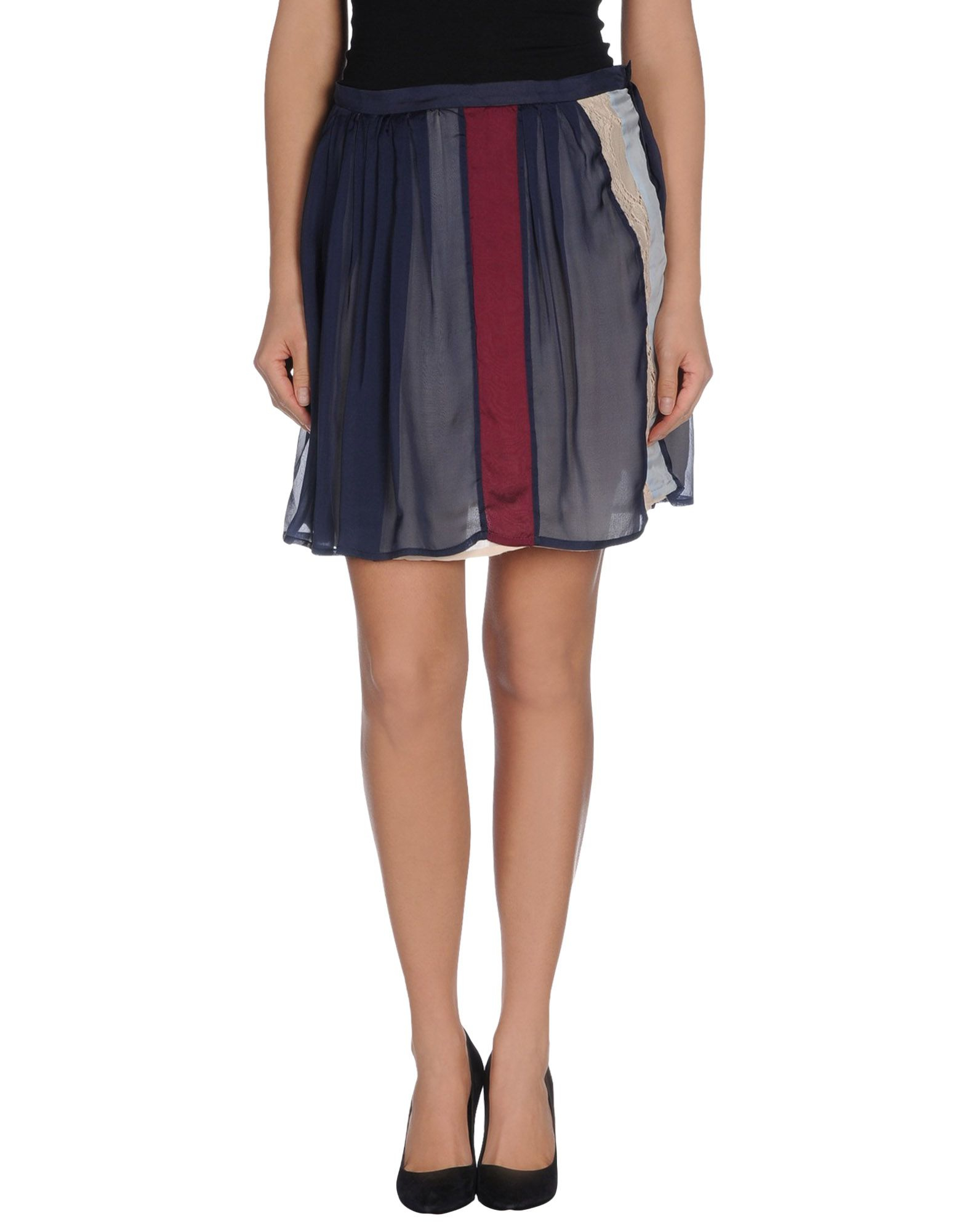 suoli knee length skirt in blue lyst