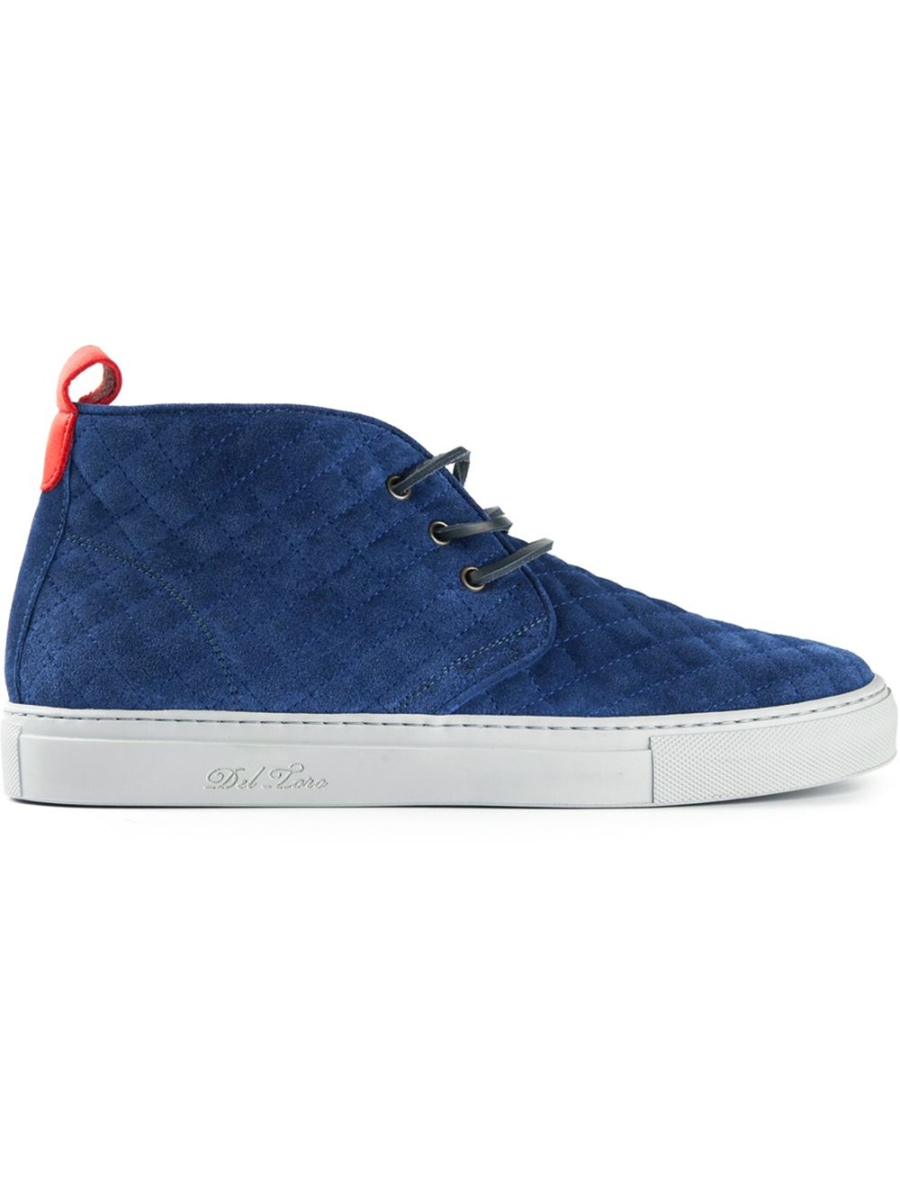 Del toro Quilted Chukka Boots in Blue for Men   Lyst : del toro quilted chukka - Adamdwight.com