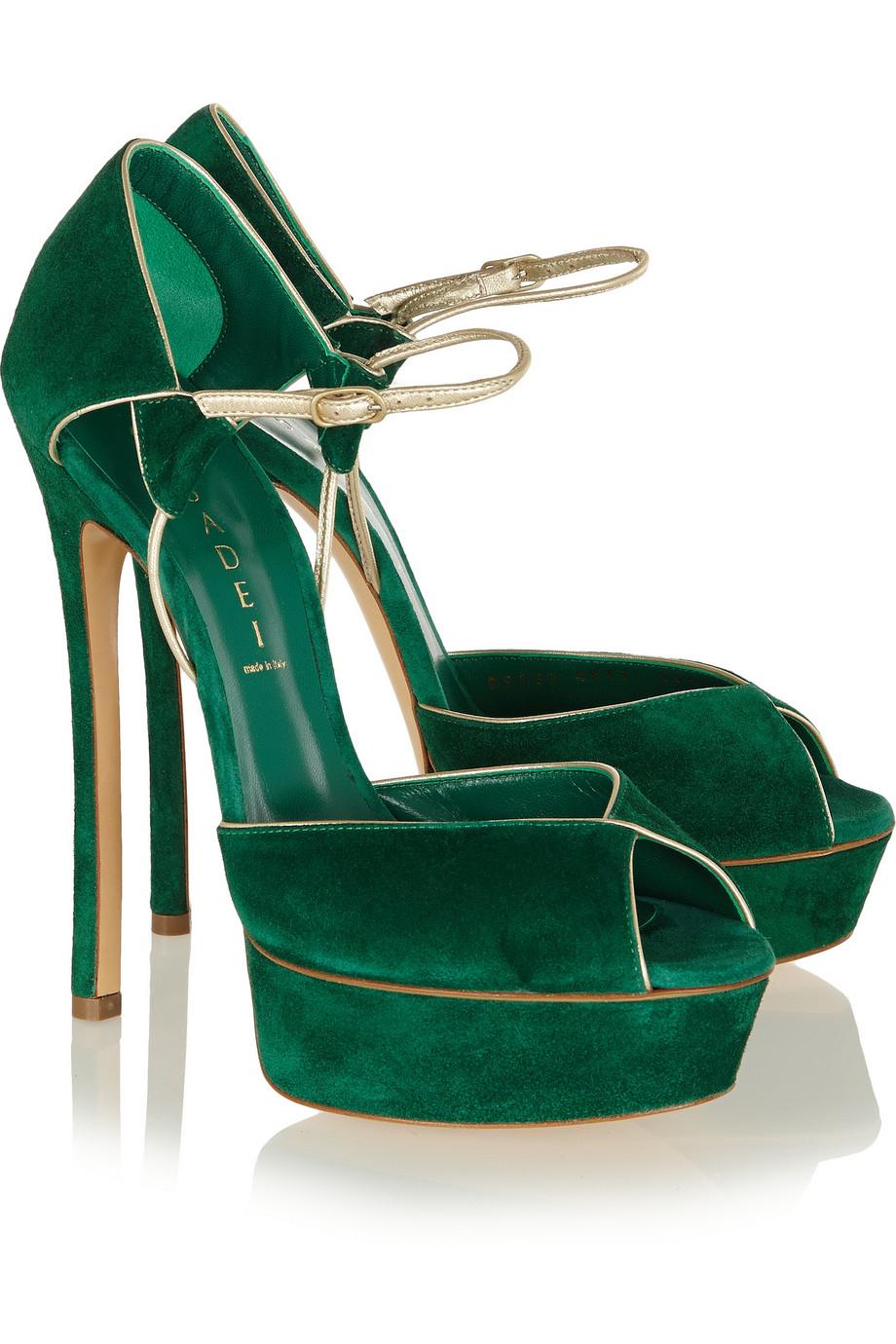 Casadei Woman Knotted Suede Platform Sandals Bright Blue Size 35 Casadei 9zZhz