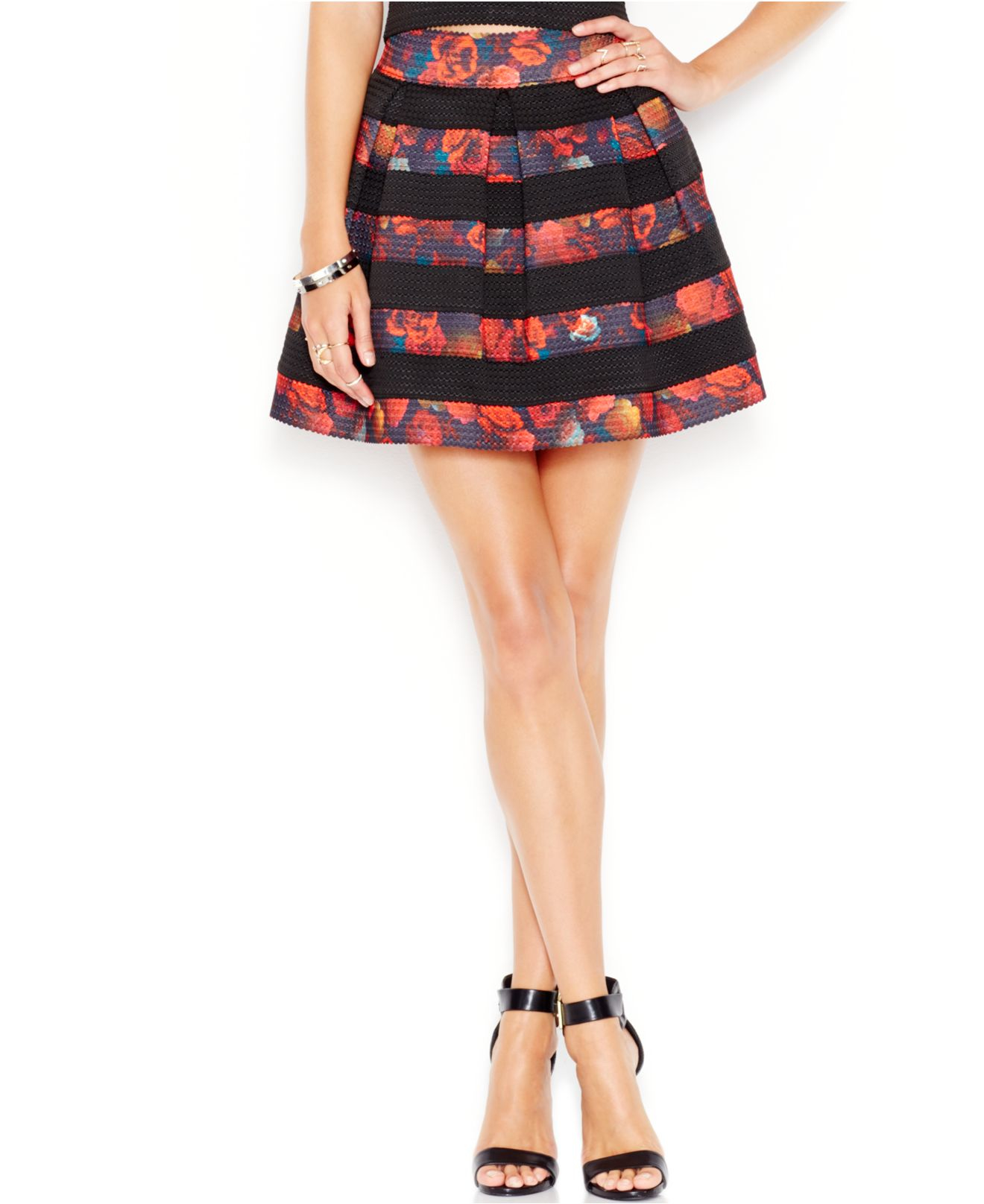 7f97382891 Guess High-waist Pleated Skirt in Pink - Lyst