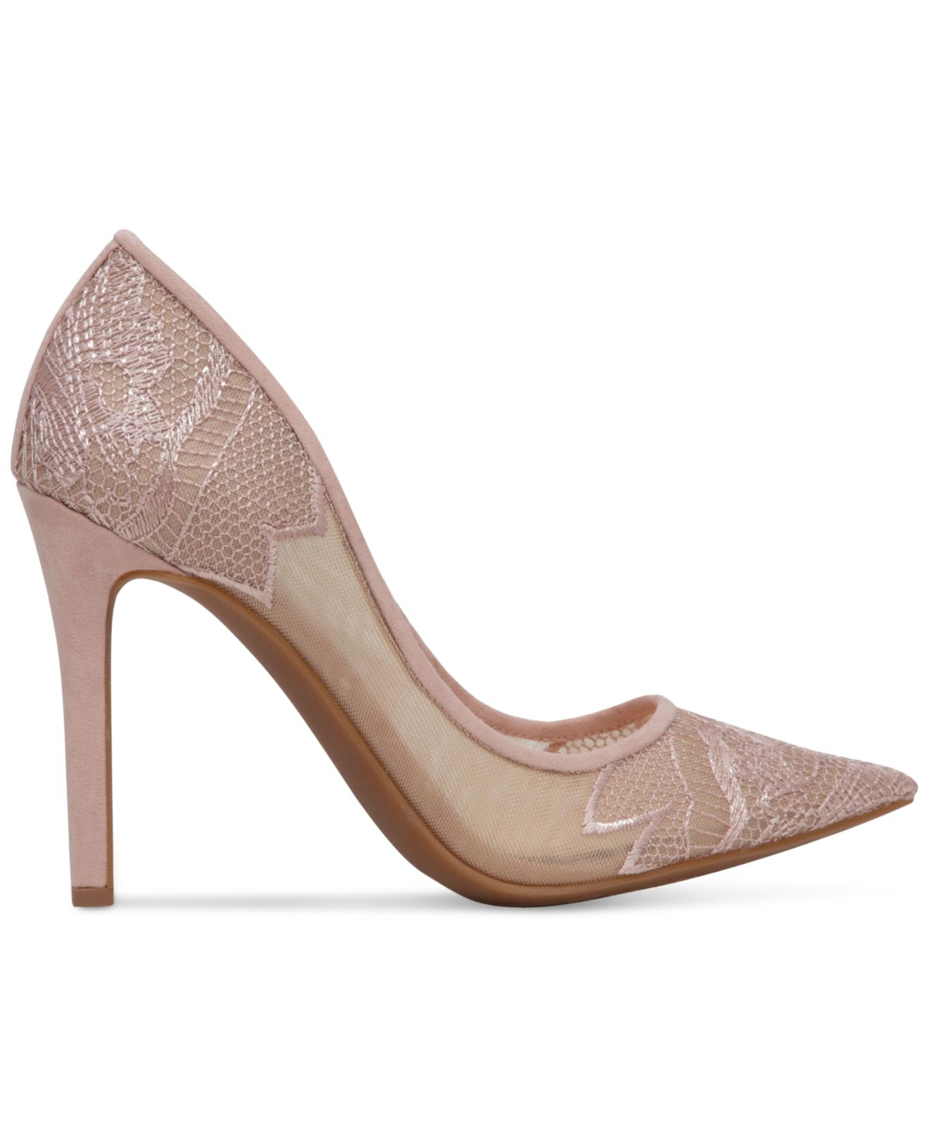 Jessica simpson Camba Lace Pointed-toe Pumps in Natural