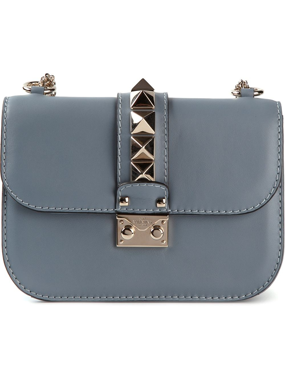 7efeb2994c Valentino Glamrock Shoulder Bag in Gray - Lyst