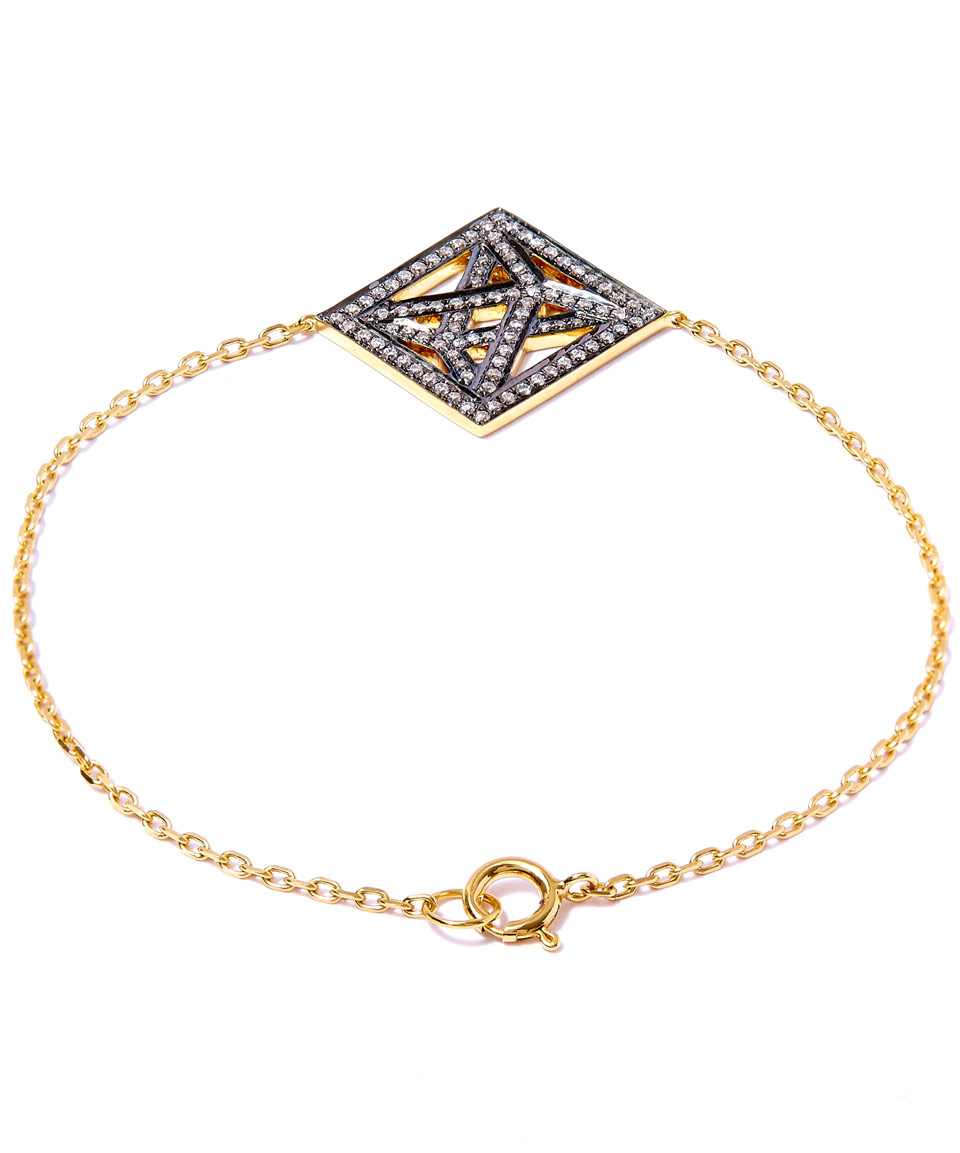Lyst Noor Fares Gold And Diamond Bracelet In Metallic