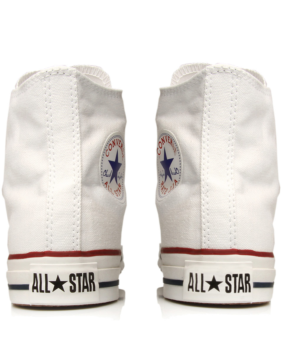 6c3fa7e1b Lyst - Converse White Chuck Taylor All Star Hi Top Trainers in White ...