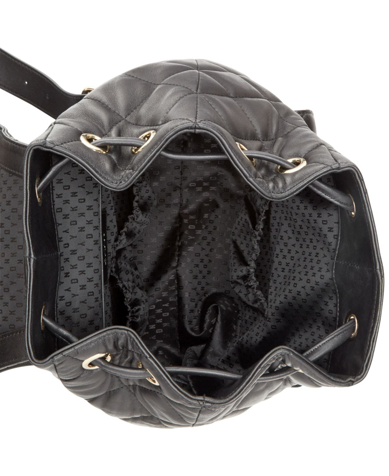 Dkny Gansevoort Quilted Nappa Leather Backpack in Black | Lyst : dkny quilted rucksack - Adamdwight.com