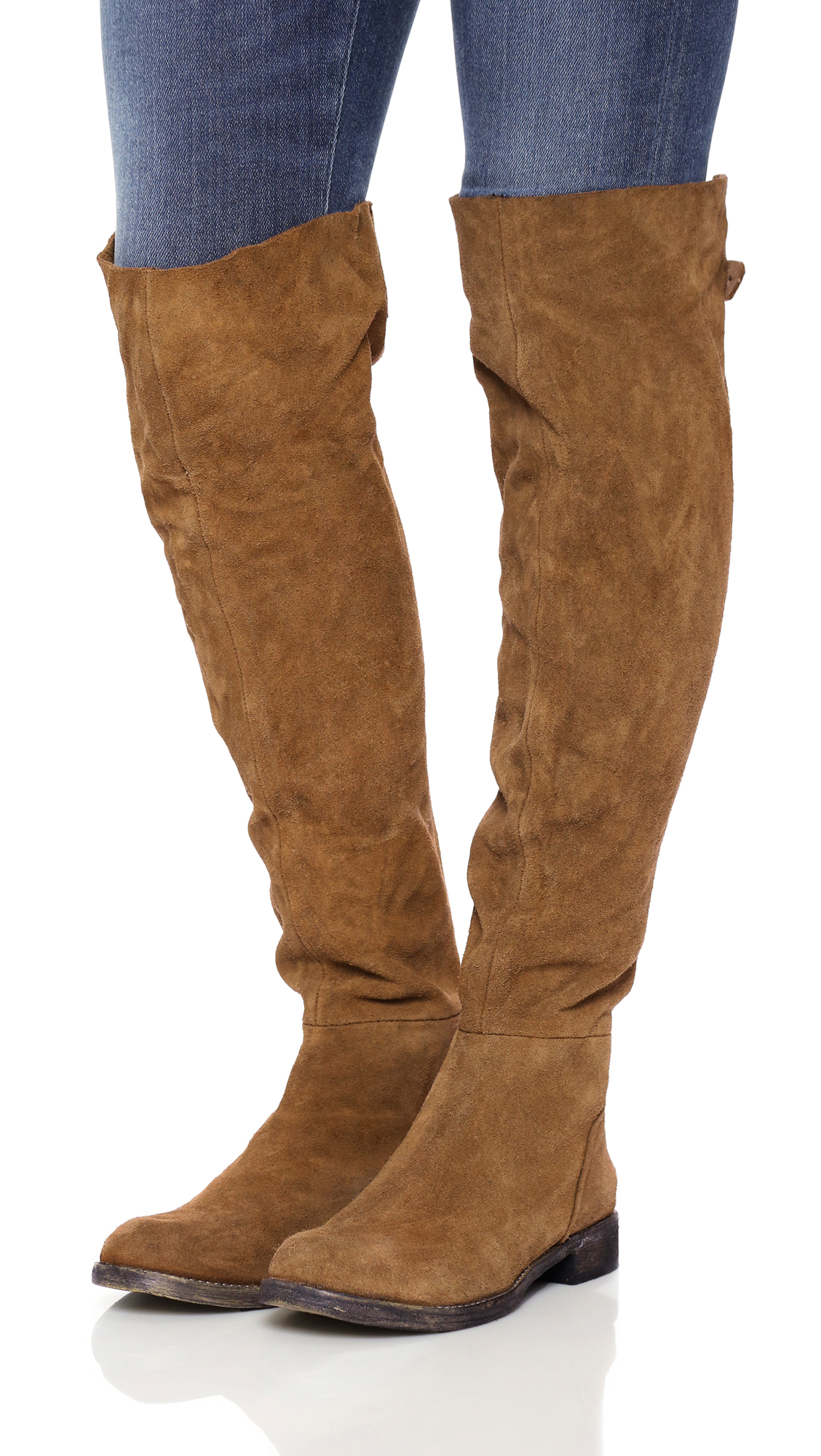 Free people Carlisle Tall Boots in Brown | Lyst