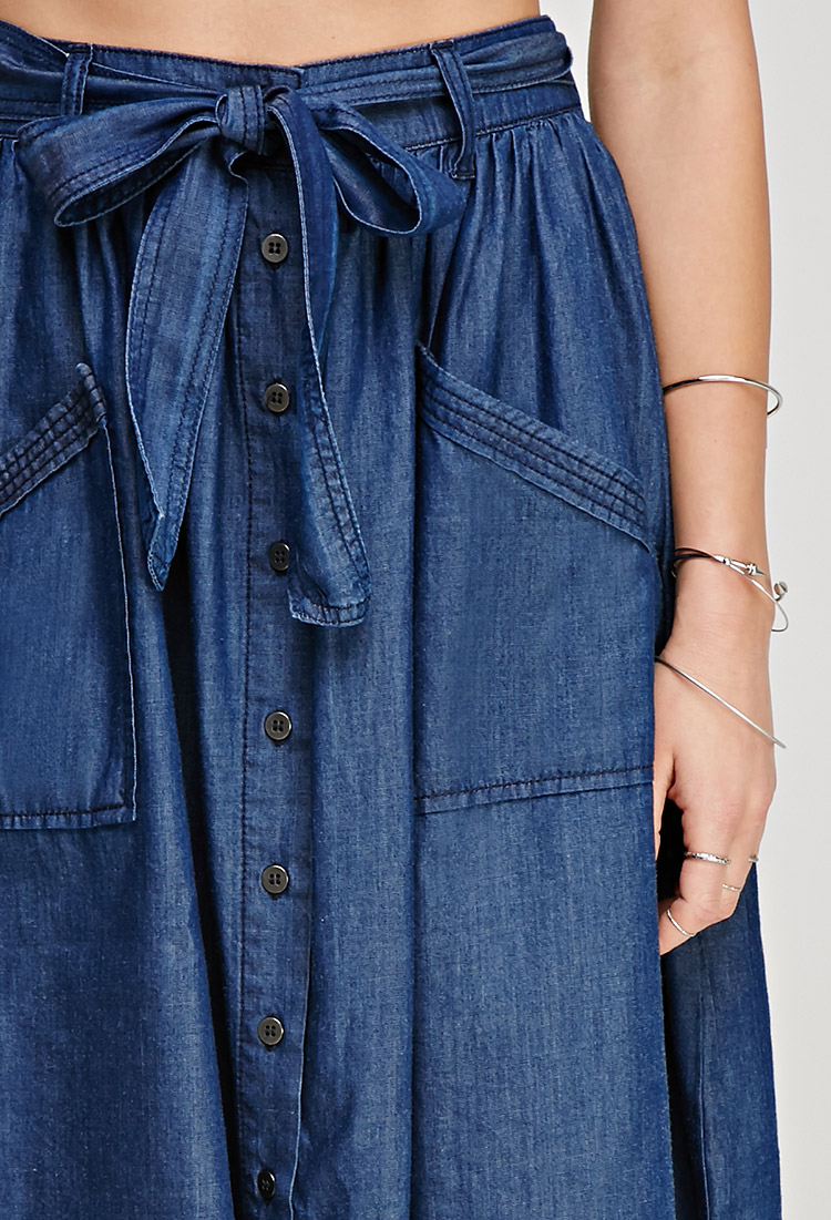 Forever 21 Contemporary Denim A-line Skirt in Blue | Lyst