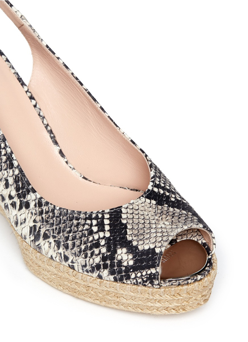 Stuart Weitzman Snakeskin Platform Wedges big discount online sale find great ESSdanl