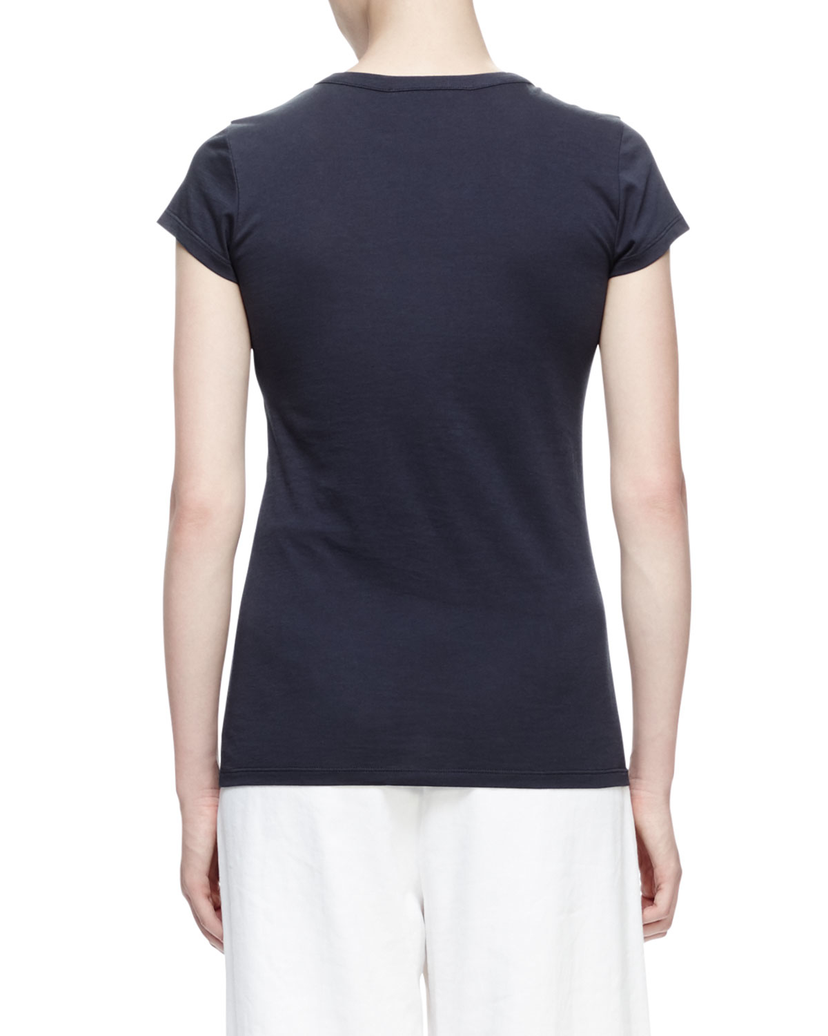 Stella mccartney patches short sleeve t shirt in blue lyst for Stella mccartney t shirt