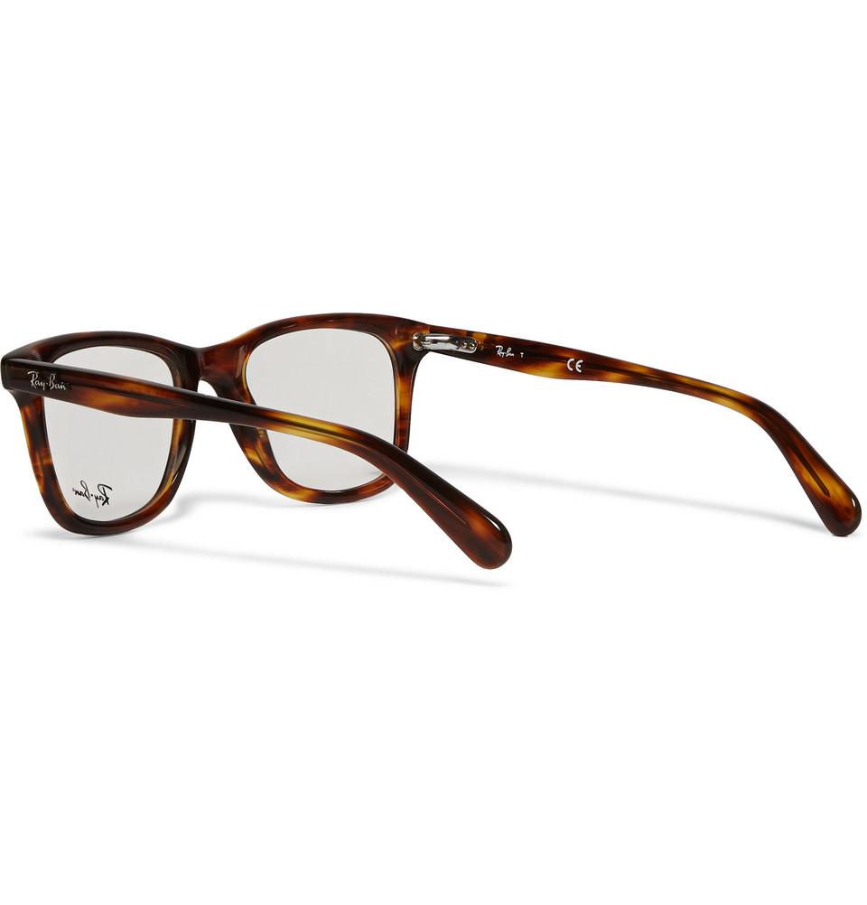 Ray Ban Square Frame Glasses : Ray-ban Original Wayfarer Square-Frame Acetate Optical ...