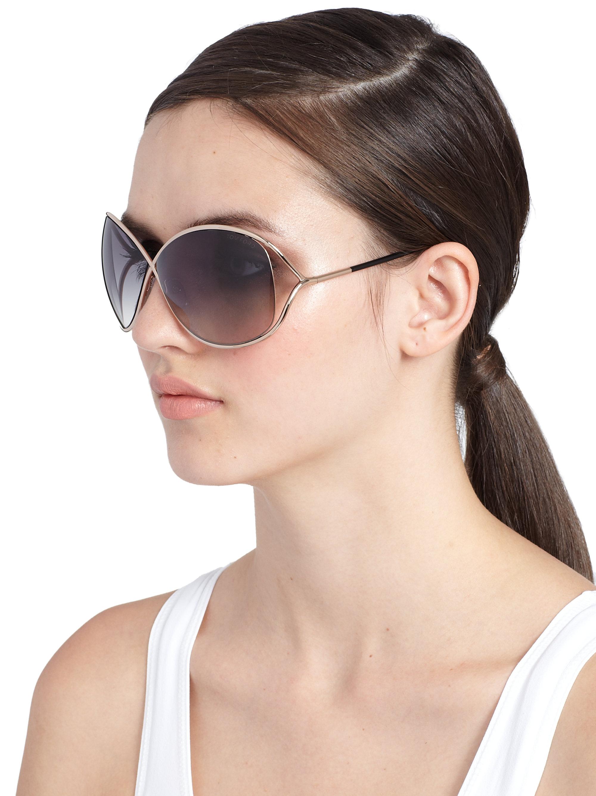 4bef161faa0bf Tom Ford Miranda 68Mm Round Sunglasses in Metallic - Lyst