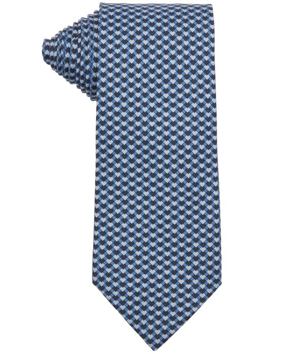 herm 232 s blue geometric printed silk tie in blue for lyst
