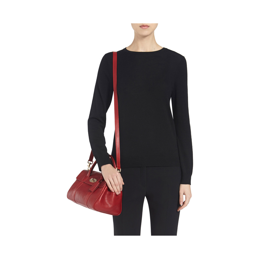 Lyst - Mulberry Small Bayswater Satchel in Red b400e1b4ba11b