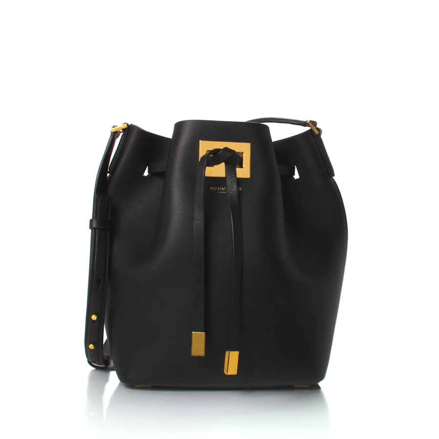a91dbed0fd8f ... usa lyst michael kors miranda medium bucket bag in black b8e9f 3cd04 ...