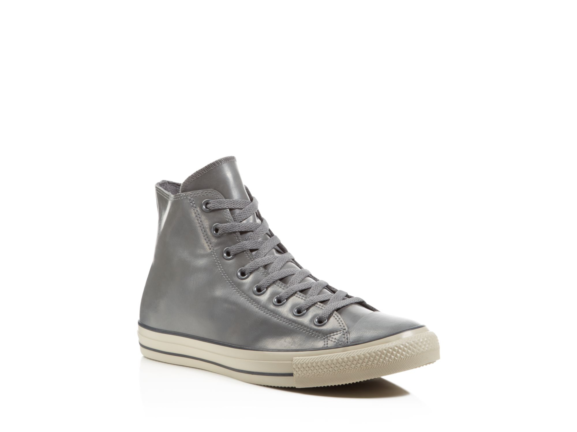 converse all star rubber high top sneakers in gray for men. Black Bedroom Furniture Sets. Home Design Ideas