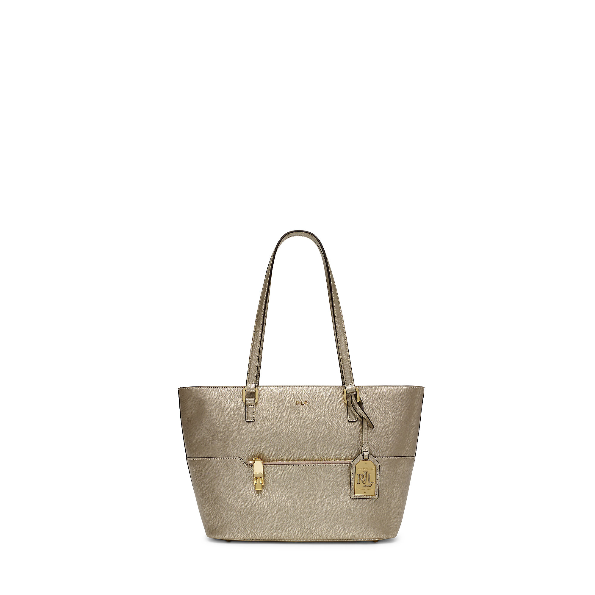 2d370350be2 Lyst - Ralph Lauren Whitby Leather Shopper in Metallic