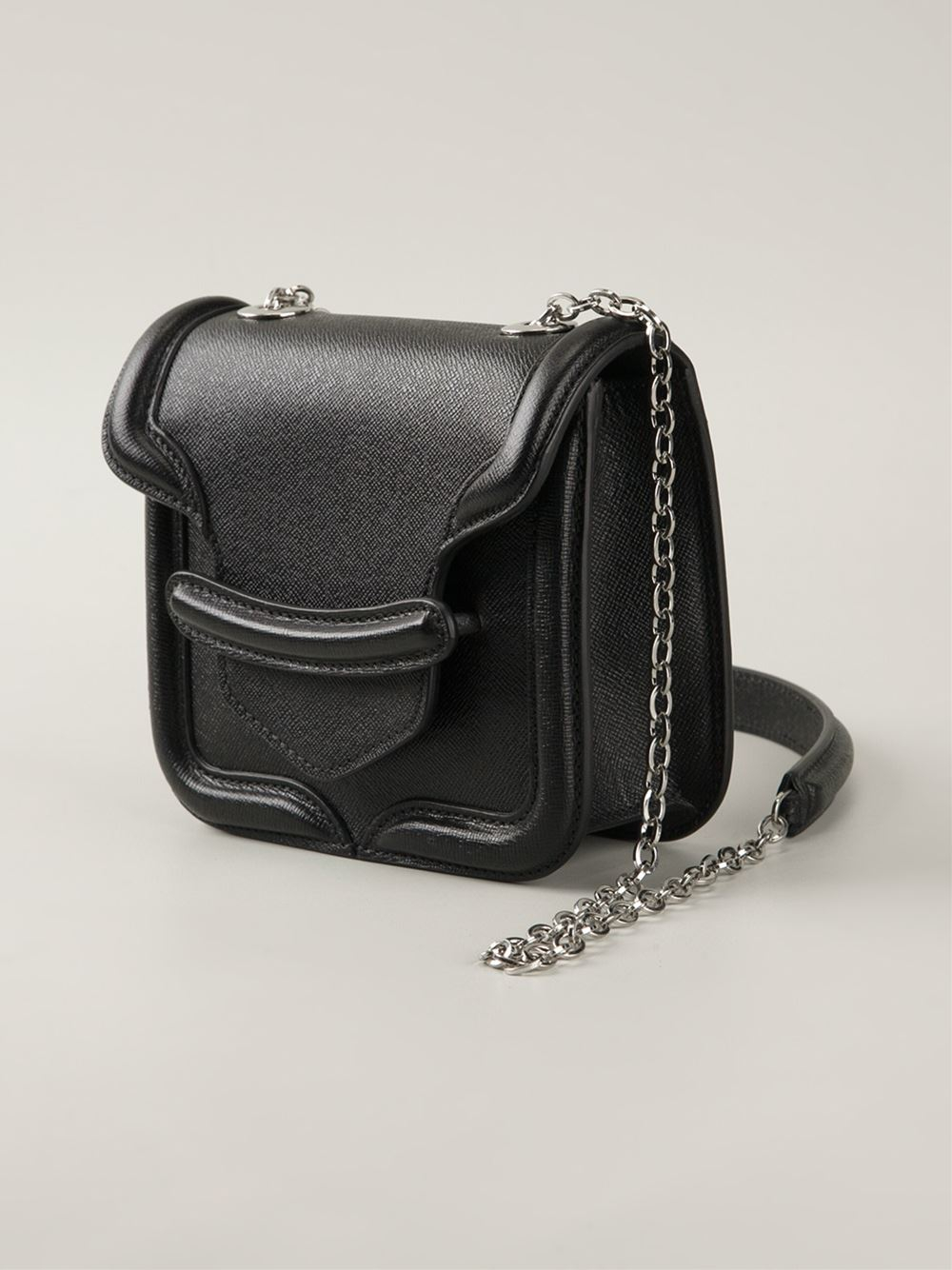 Alexander mcqueen Mini 'Heroine' Crossbody Bag in Black | Lyst