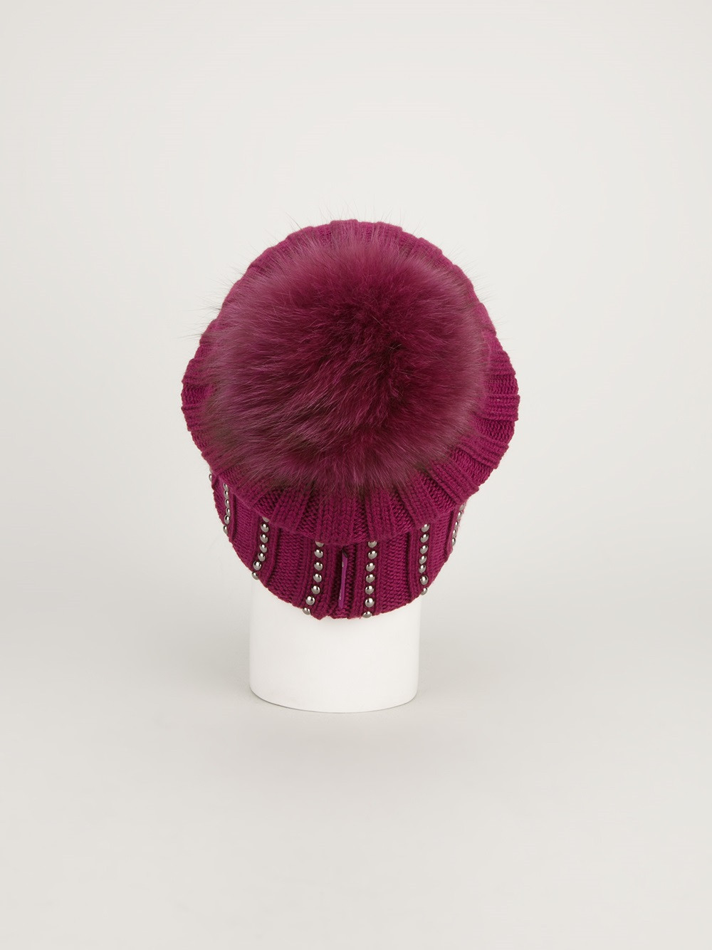 Moncler Pom Beanie Hat in Pink & Purple (Pink) - Lyst