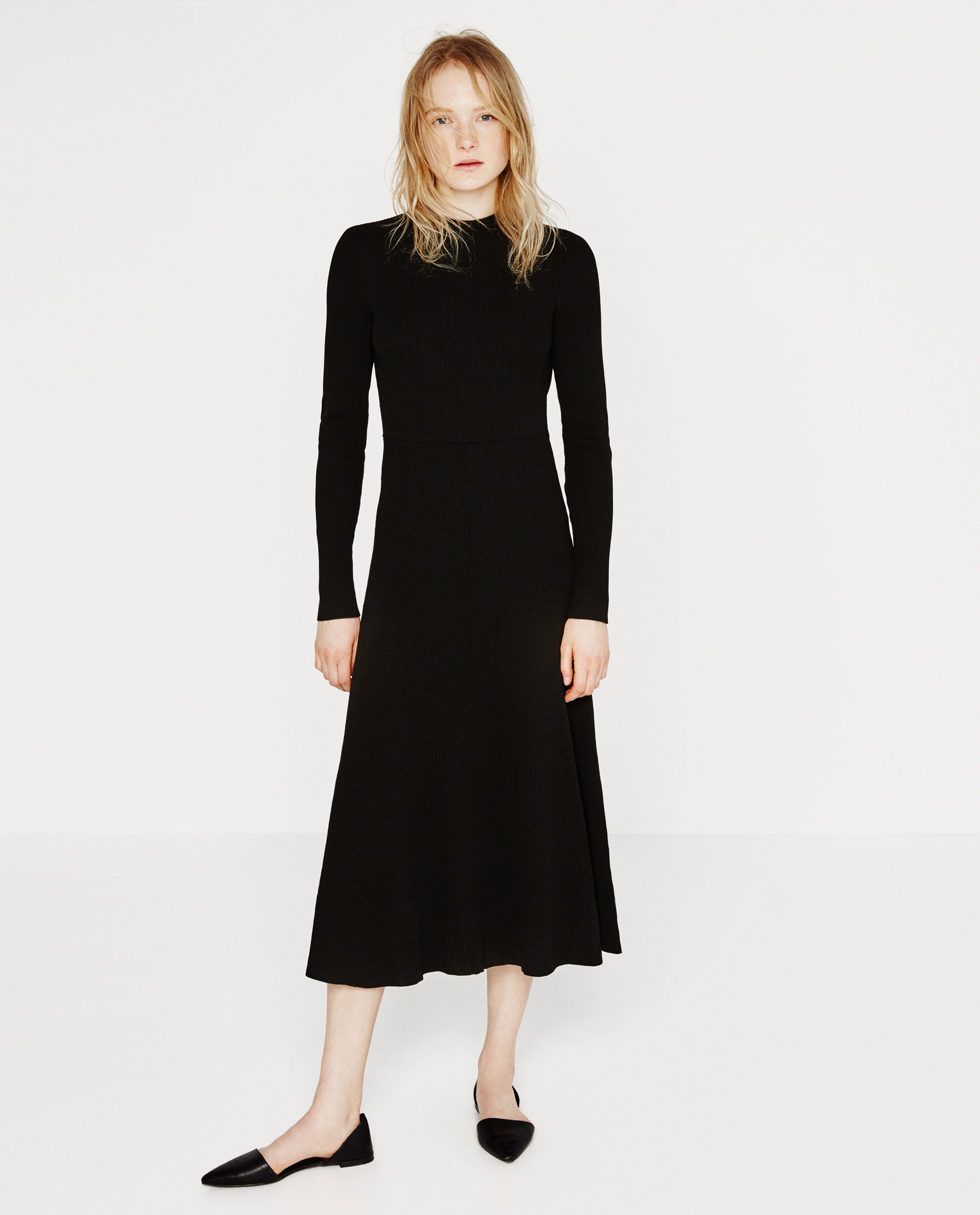 Zara Low-cut Back Dress in Black  Lyst