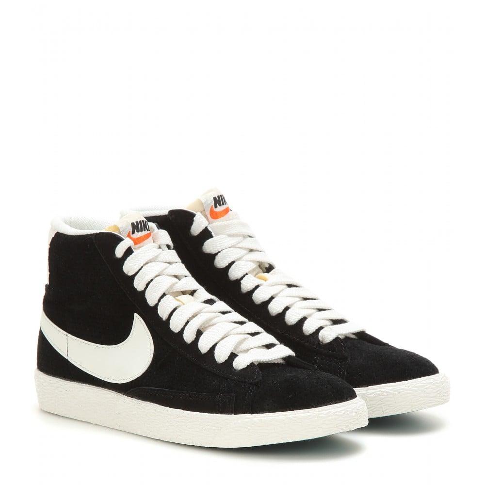 new concept e2cfa c42ea Women's Black Blazer Mid Vintage Suede High-top Sneakers