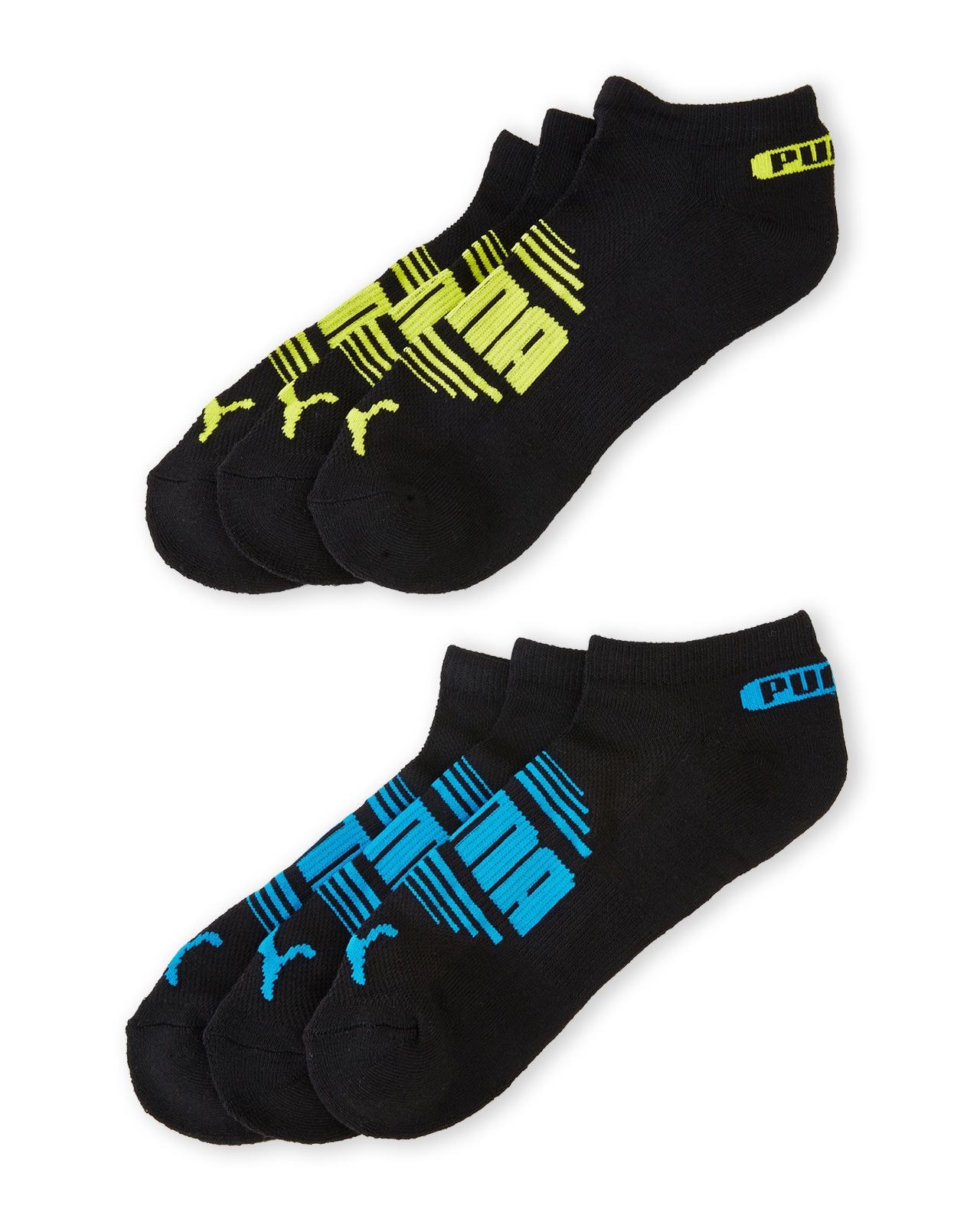 06d0b57c8 PUMA 6-Pack Low Cut Terry Ankle Socks in Black for Men - Lyst