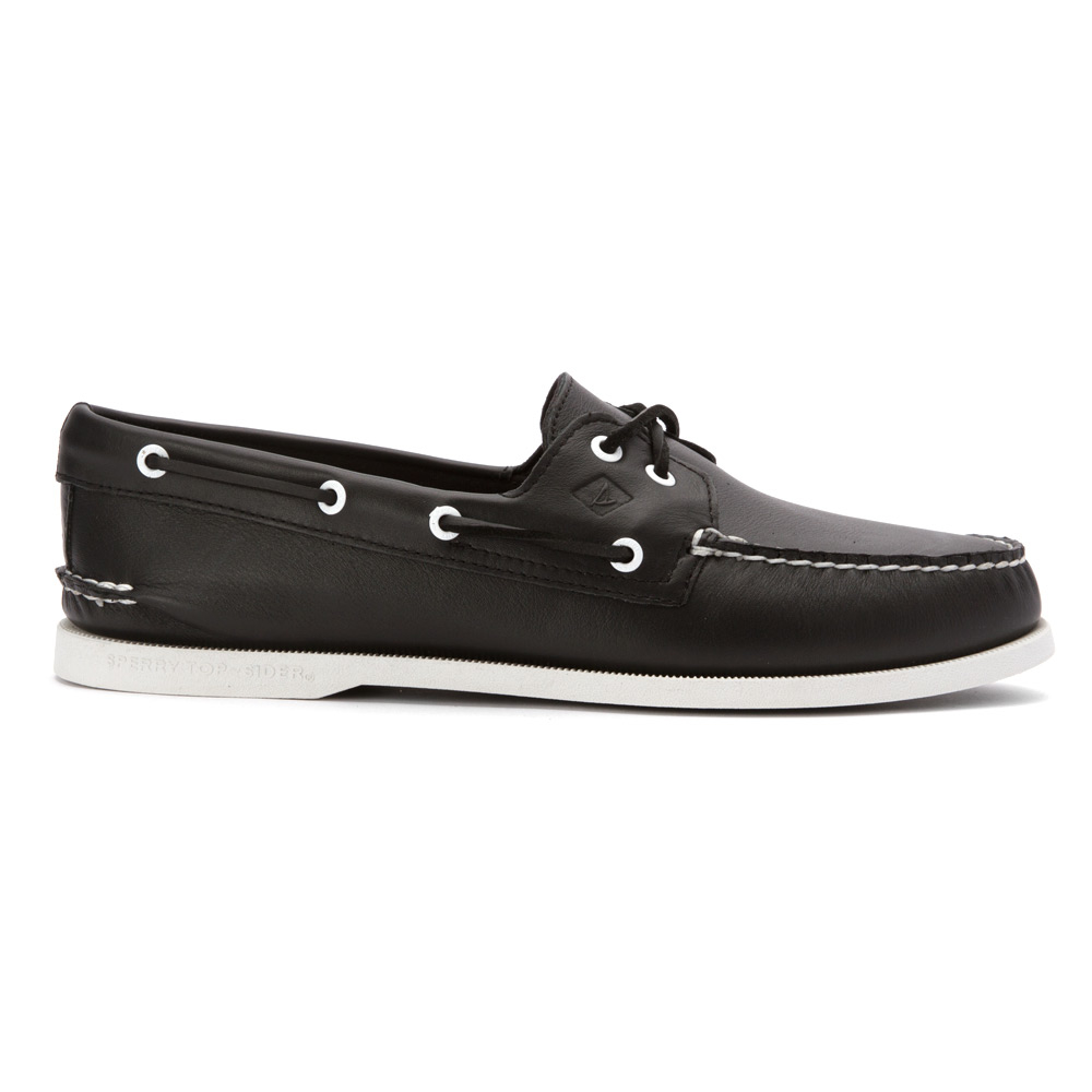 sperry top sider a o 2 eye white black in black for lyst