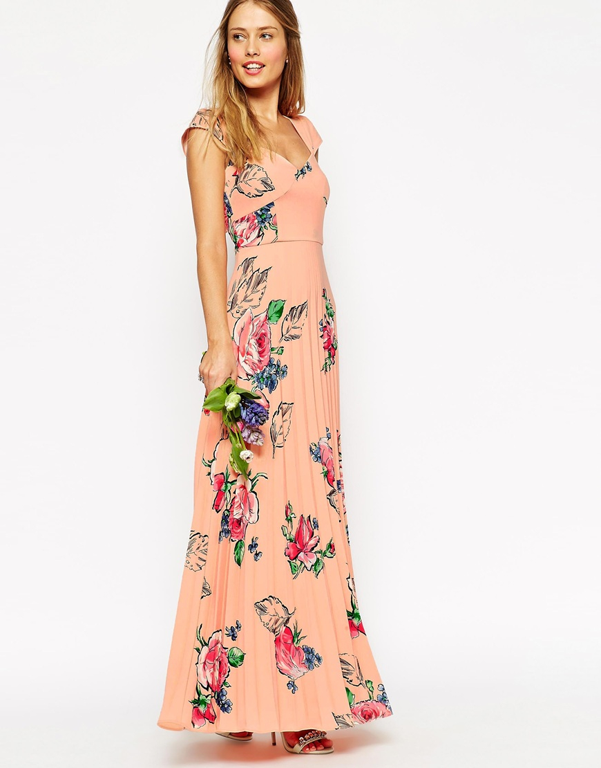 Asos rose print maxi dress dress ideas for Print maxi dress for wedding