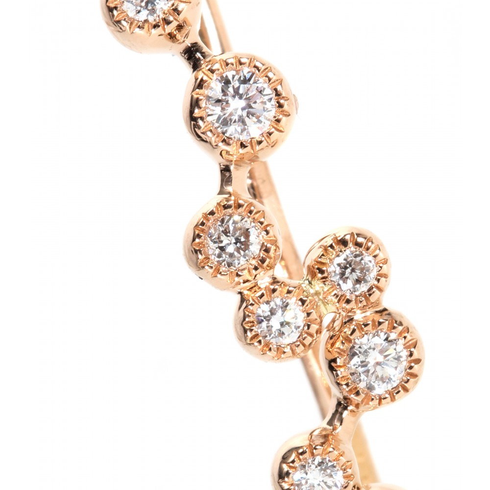 Stone Love Is In The Air 18kt Rose Gold Single Earring With Diamonds in Pink