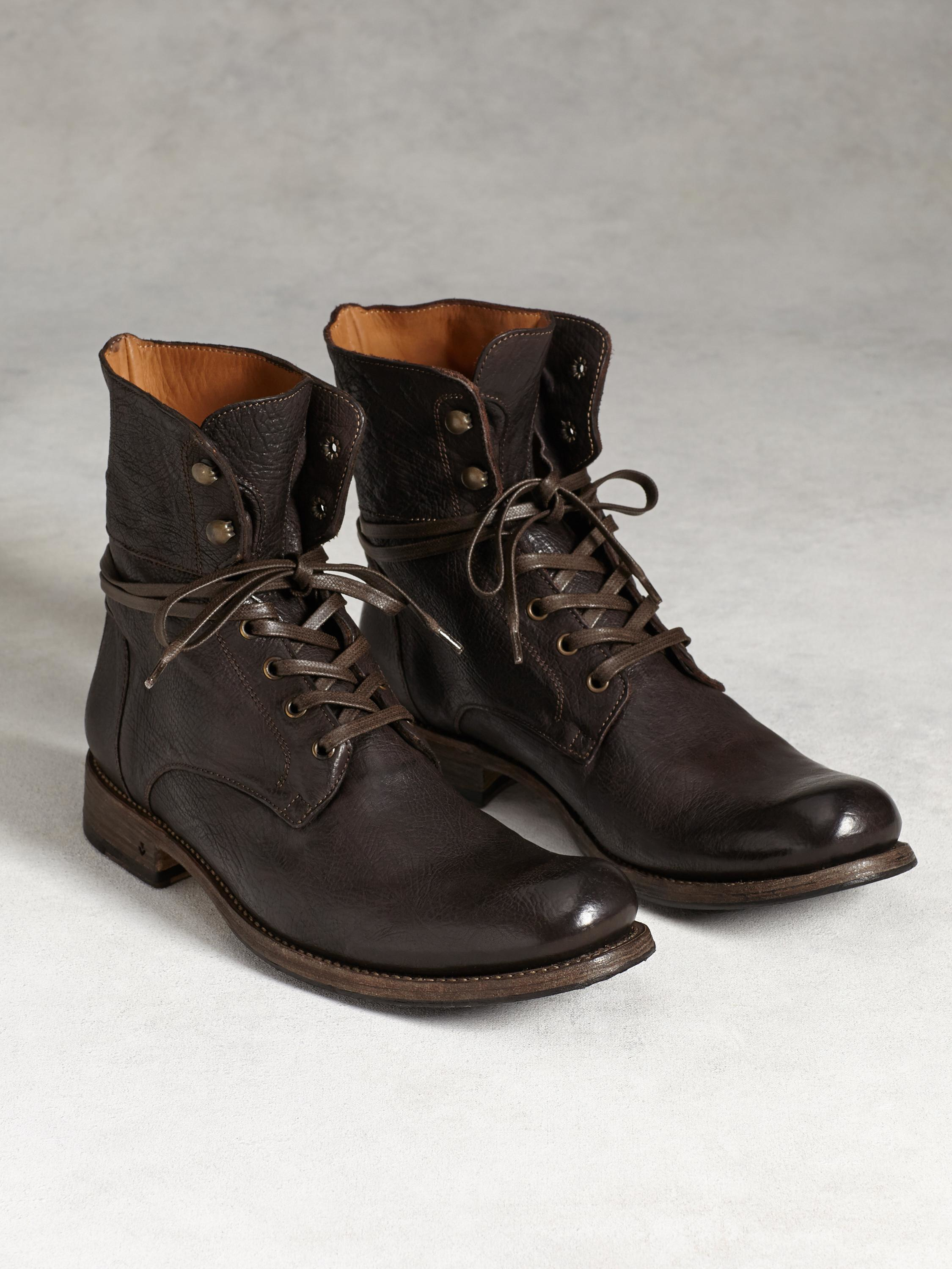 0767206a25 John Varvatos Six O' Six Leather Combat Boots in Brown for Men - Lyst