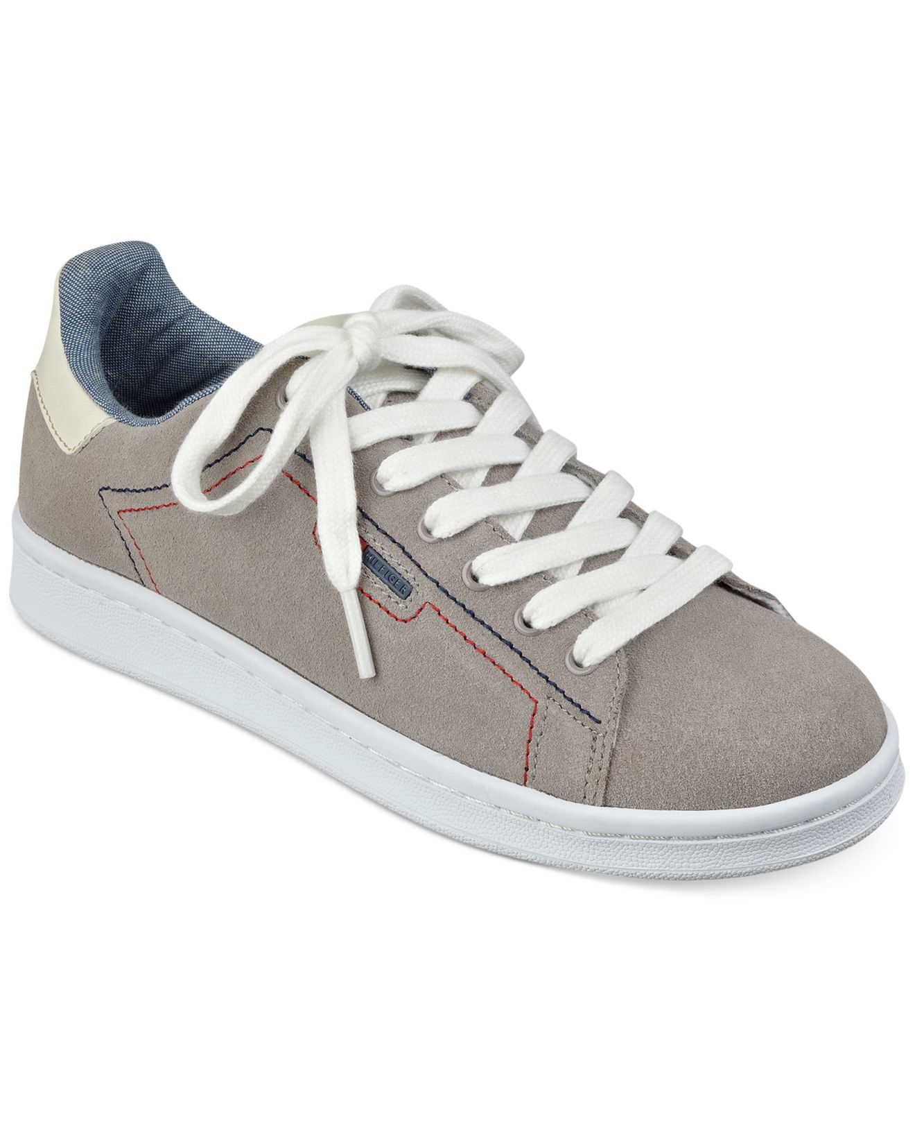 tommy hilfiger women 39 s suzane sneakers in gray lyst. Black Bedroom Furniture Sets. Home Design Ideas