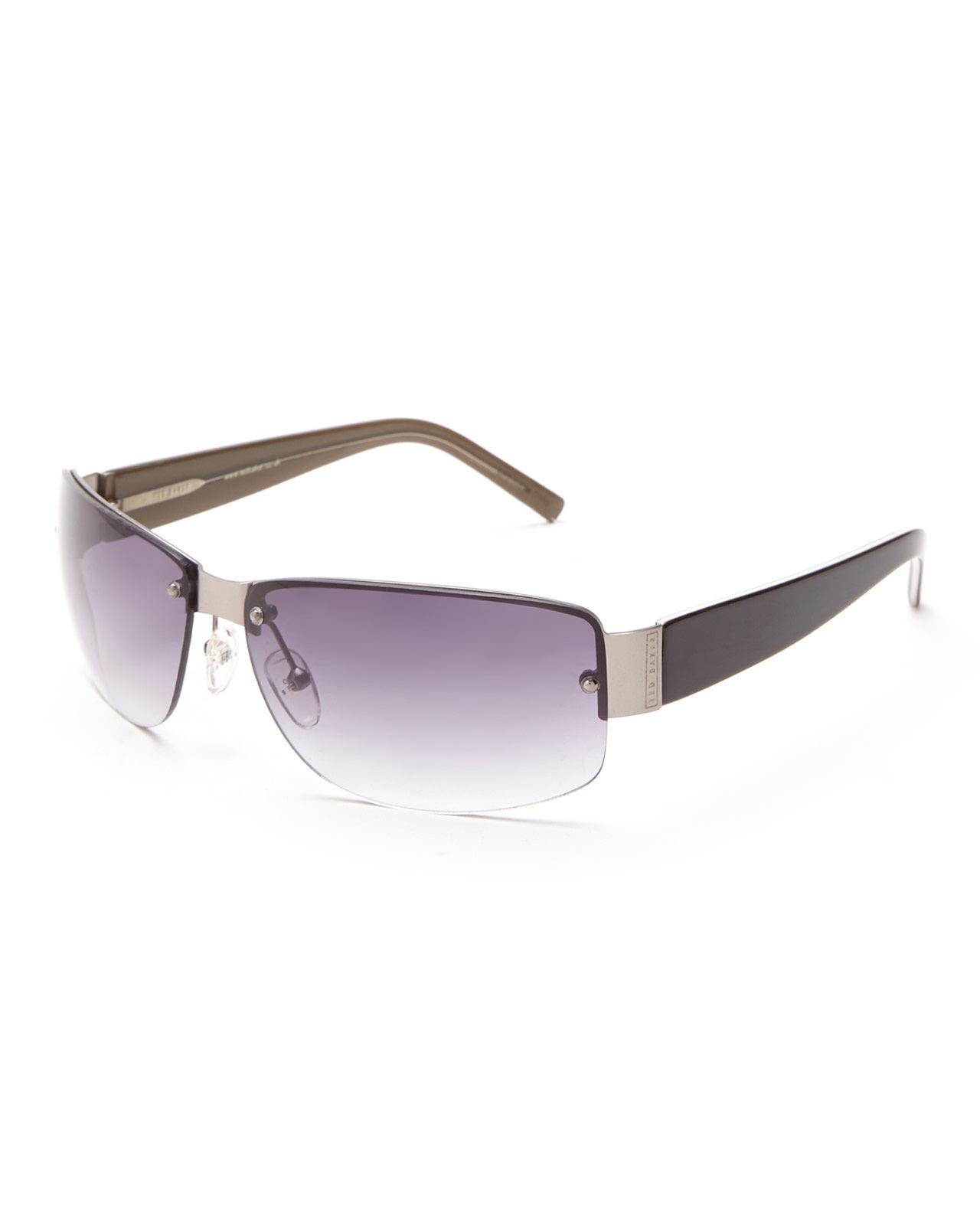 Rimless Rectangle Glasses : Ted baker B427 Gunmetal Rimless Rectangle Sunglasses in ...