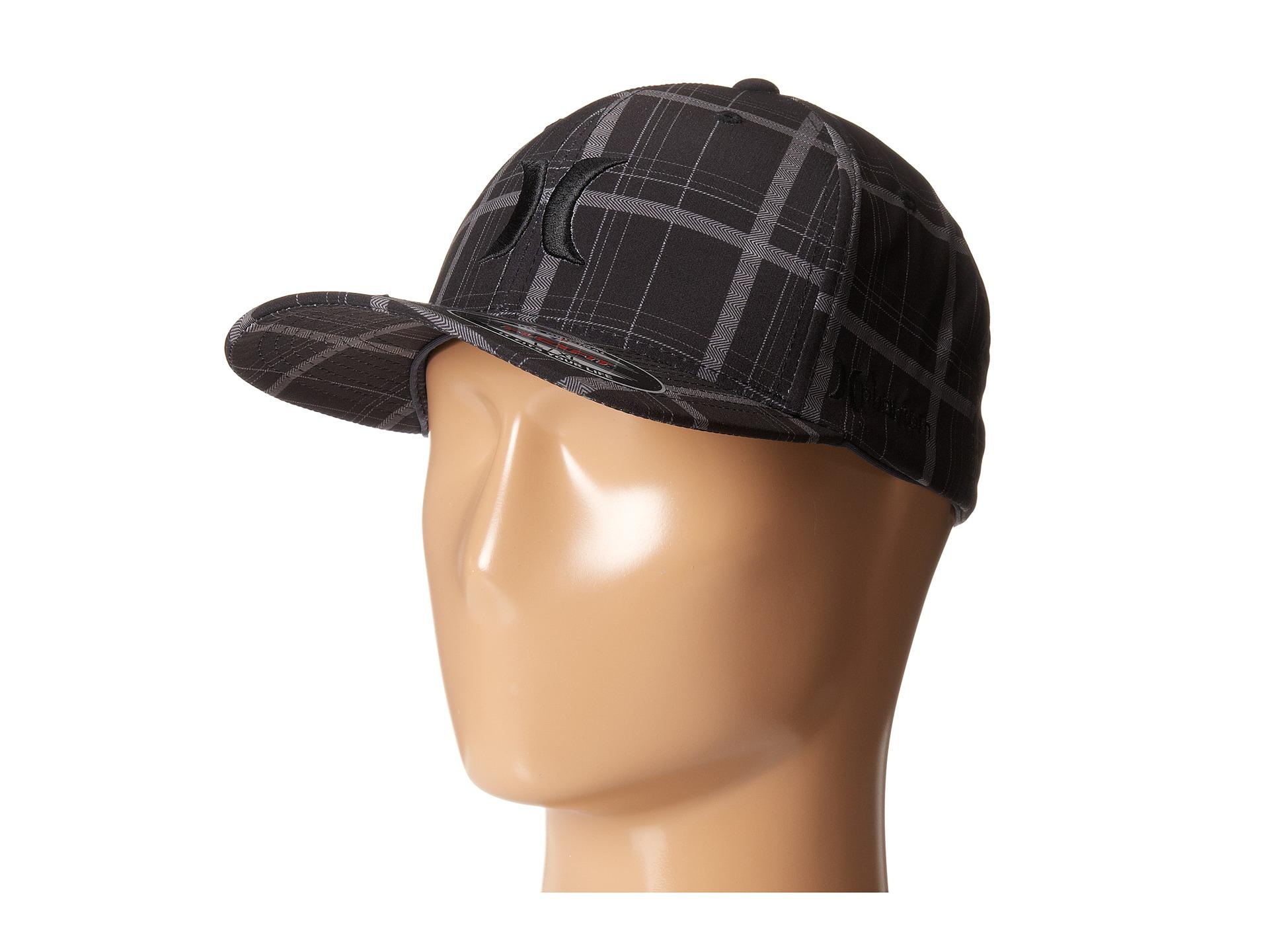 Lyst - Hurley Phantom Plaid Flexfit Permacurve Hat in Black for Men 63d8548c1f3