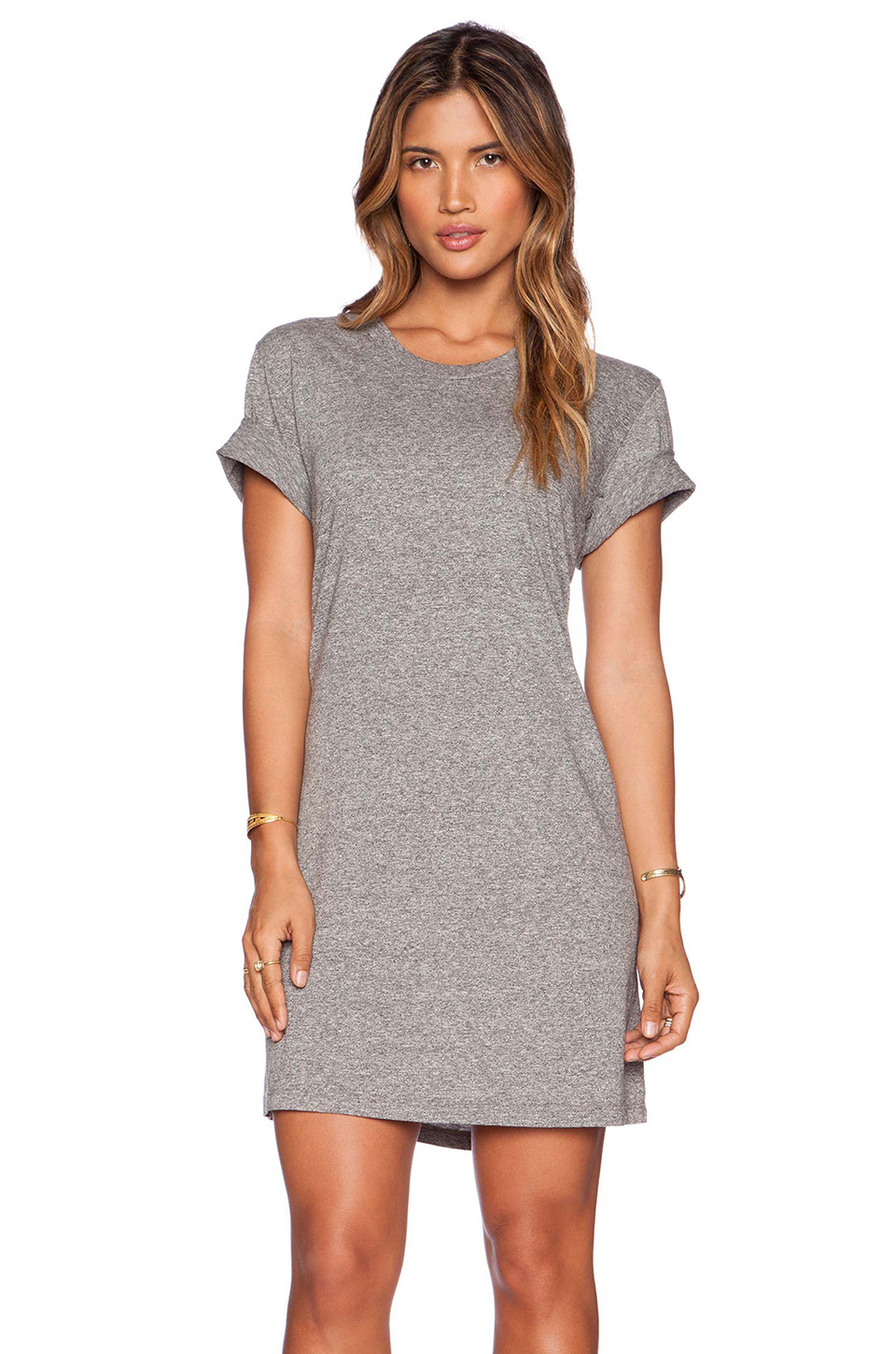 ever monroe t shirt dress in gray lyst