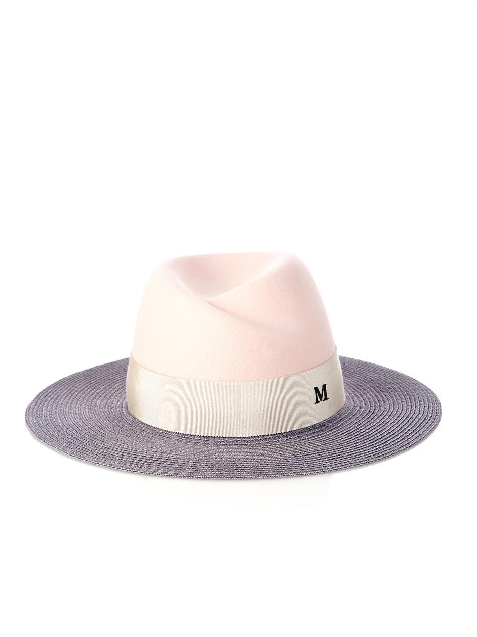 Virginie woven hat - Pink & Purple Maison Michel TGfDoa