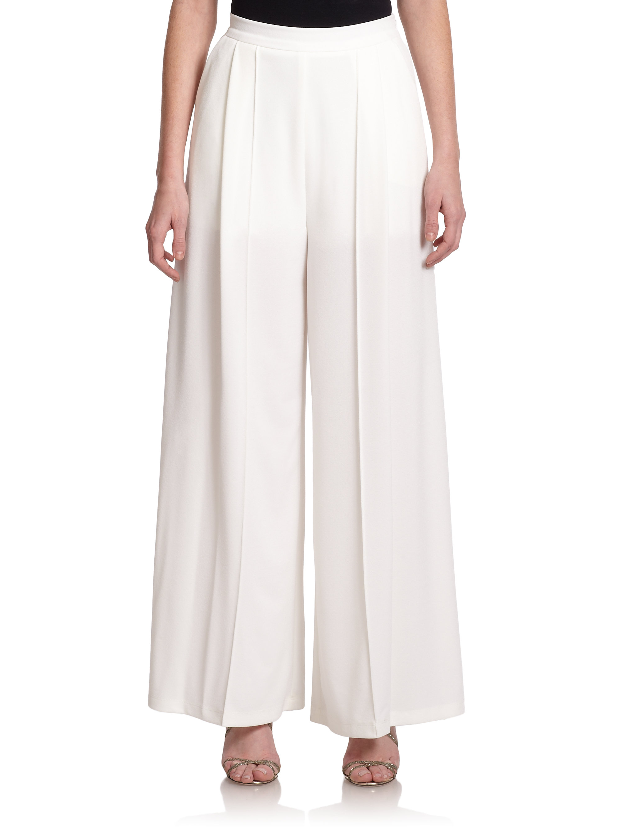 white palazzo pants pant so