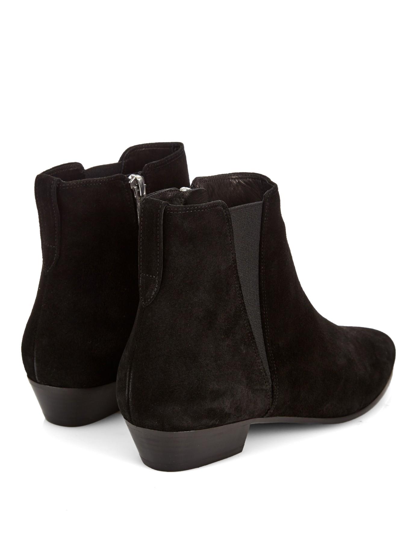 isabel marant patsha suede chelsea boots in black lyst. Black Bedroom Furniture Sets. Home Design Ideas