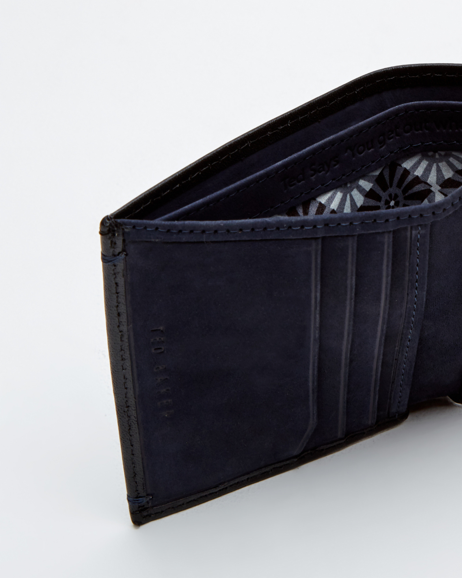 b52ee73d60424b Ted Baker Small Contrast Wallet in Black for Men - Lyst
