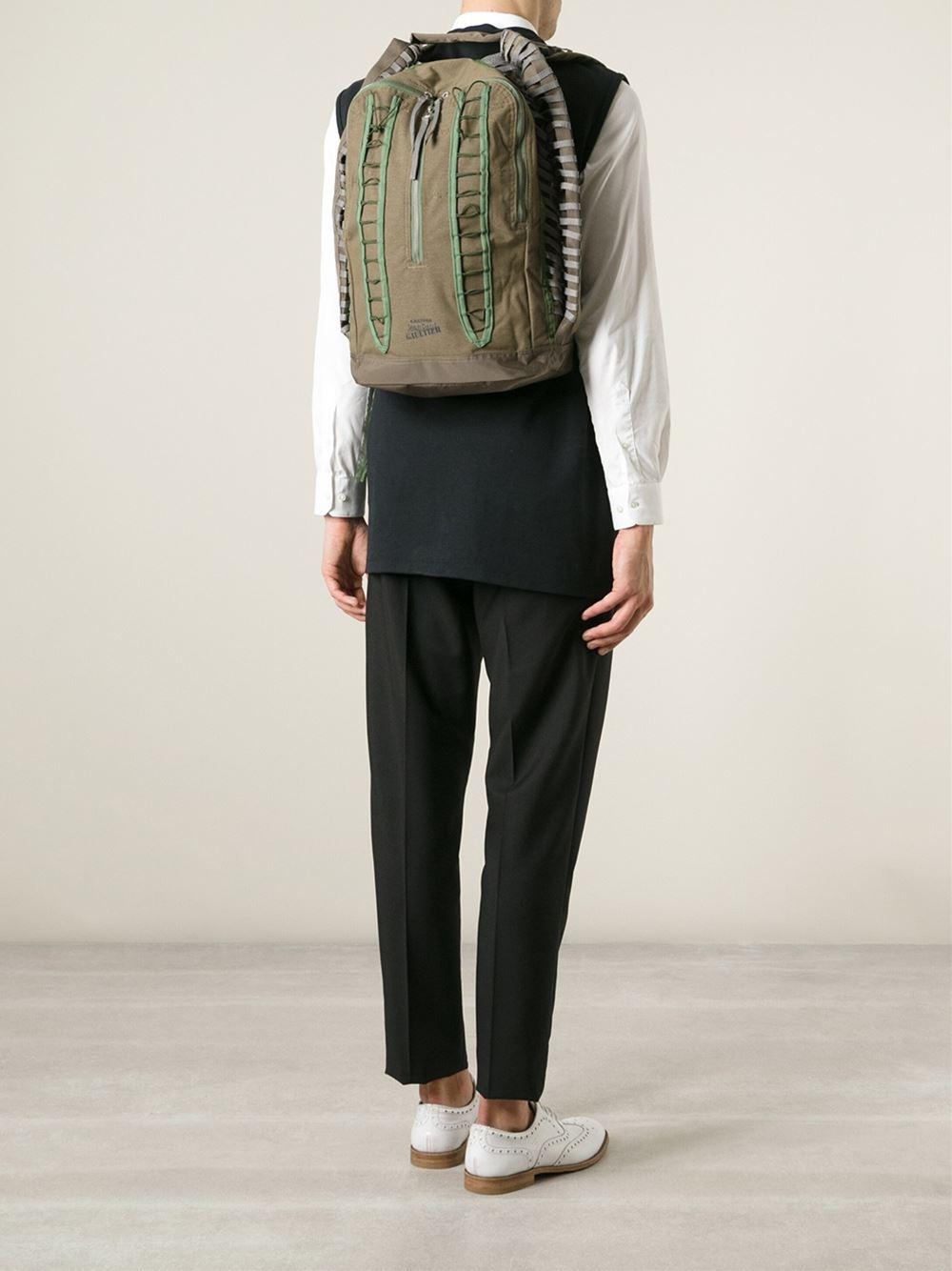 eastpak x jean paul gaultier backpack in green for men lyst. Black Bedroom Furniture Sets. Home Design Ideas