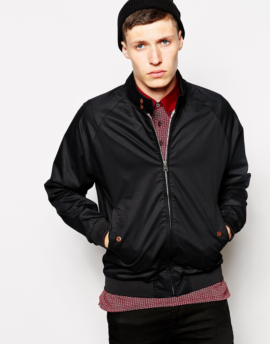 lyst ben sherman harrington jacket in black for men