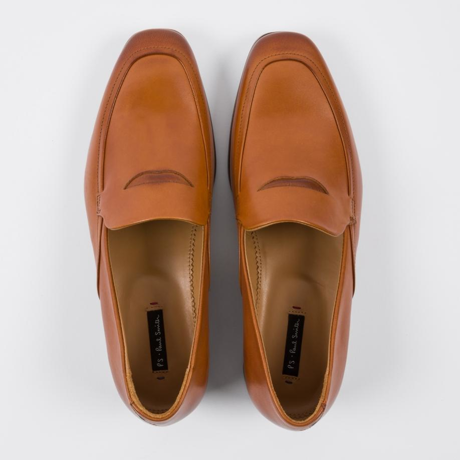 Paul Smith Men's Tan Leather 'massimo' Penny Loafers in ...